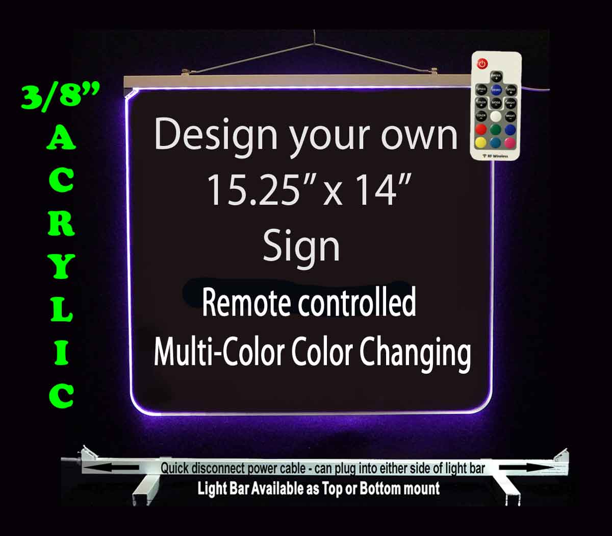 "Personalized Custom LED Neon Sign 15.25"" x 14"""