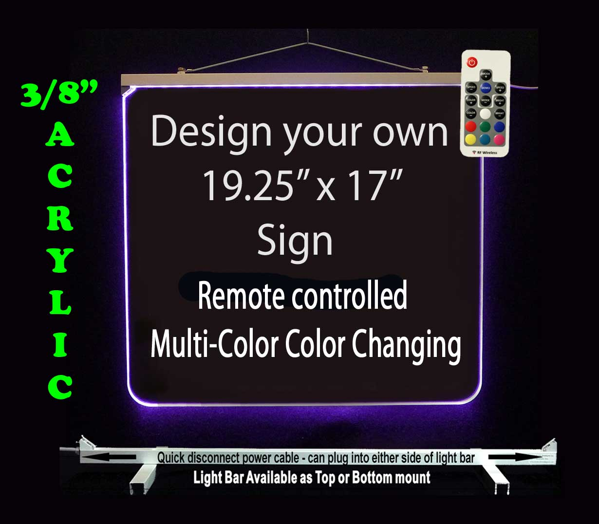 "Personalized Custom LED Neon Sign 19.25"" x 17"""