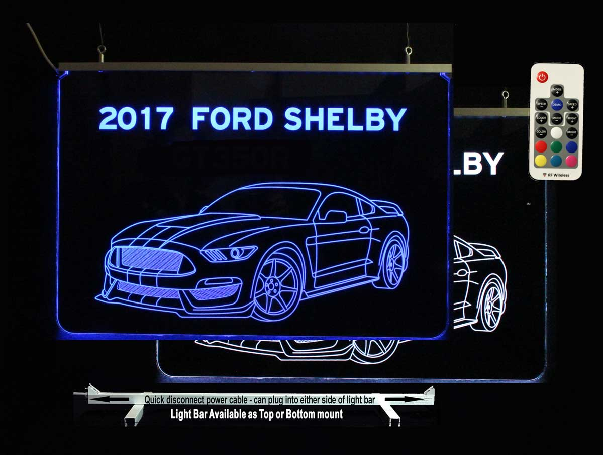 Personalized Shelby Mustang Man cave Garage sign - Car sign