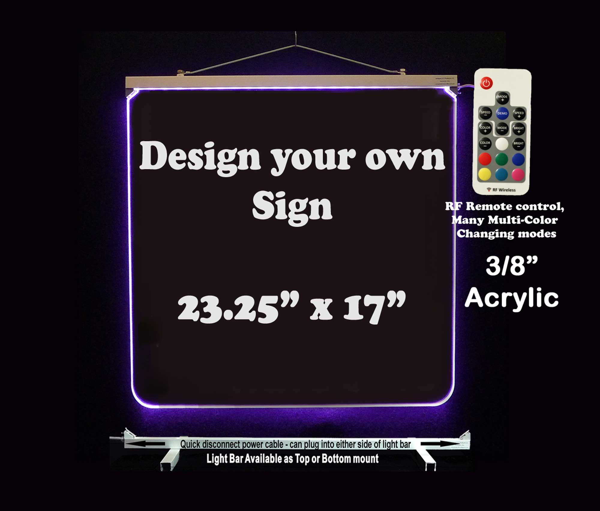 "Personalized LED Sign 23.25"" x 17"""