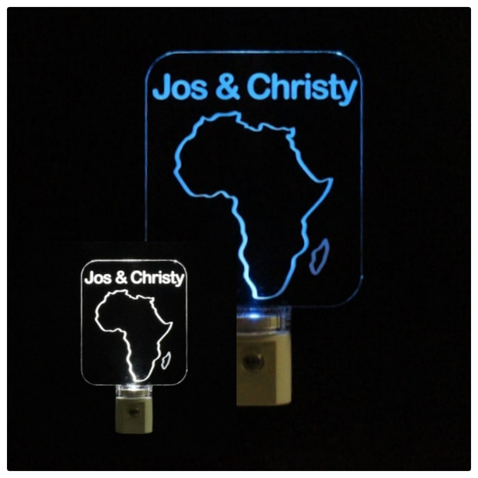 Africa Night Light, Personalized