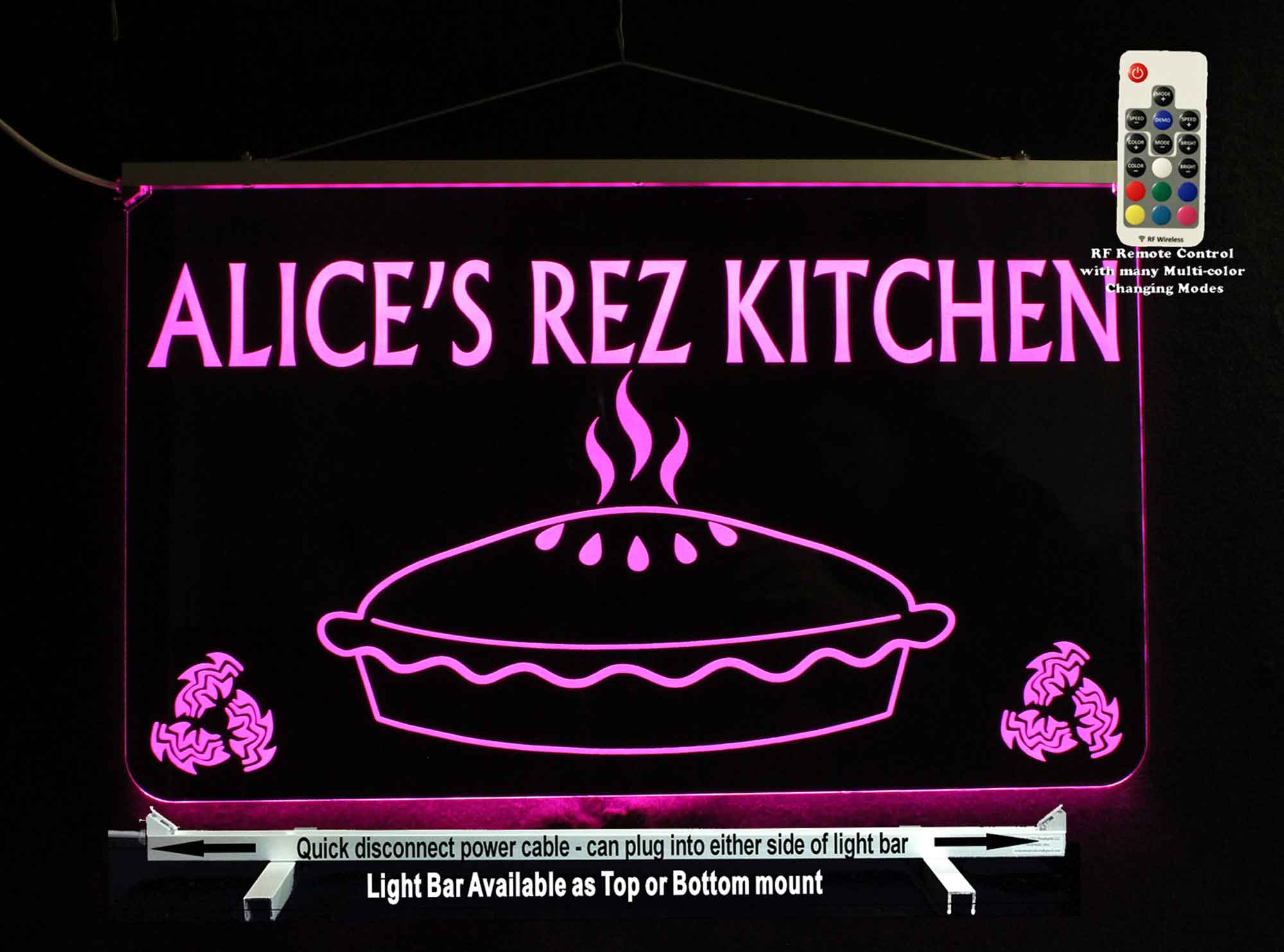 Personalized Kitchen Sign, LED Neon, Bakery sign
