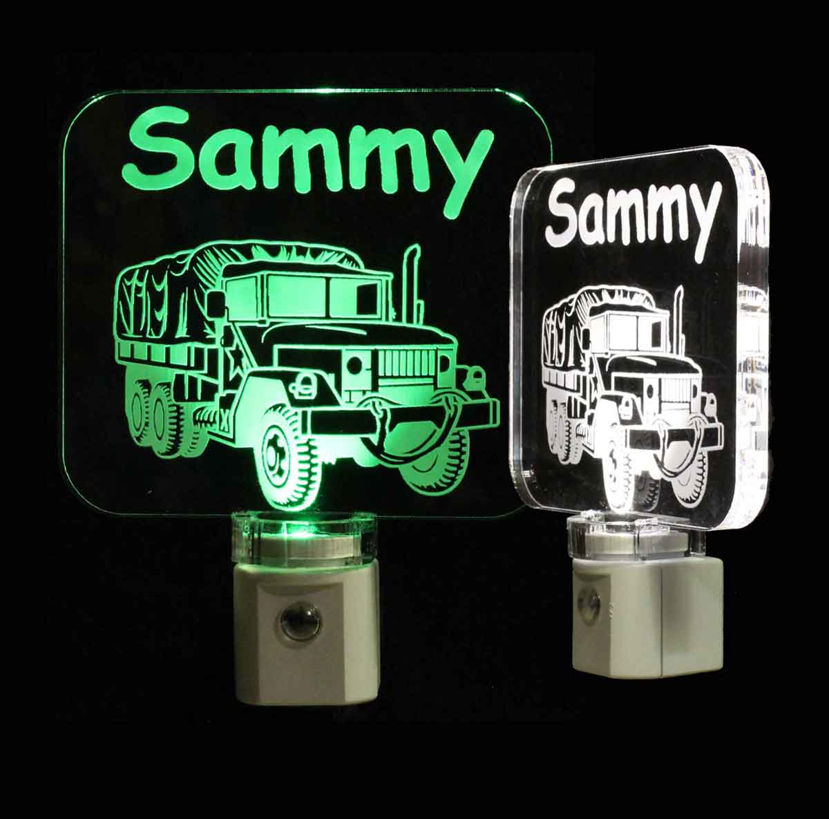 Military Army Truck Personalized LED Night Light - Lamp