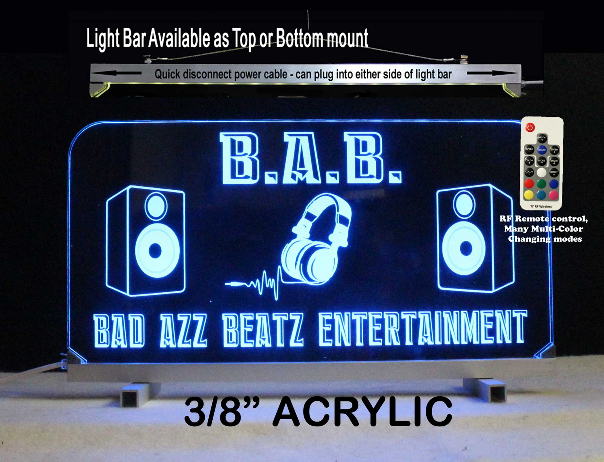 Custom DJ Sign, Custom LED Sign, Man Cave sign, LED Neon Bar Sign