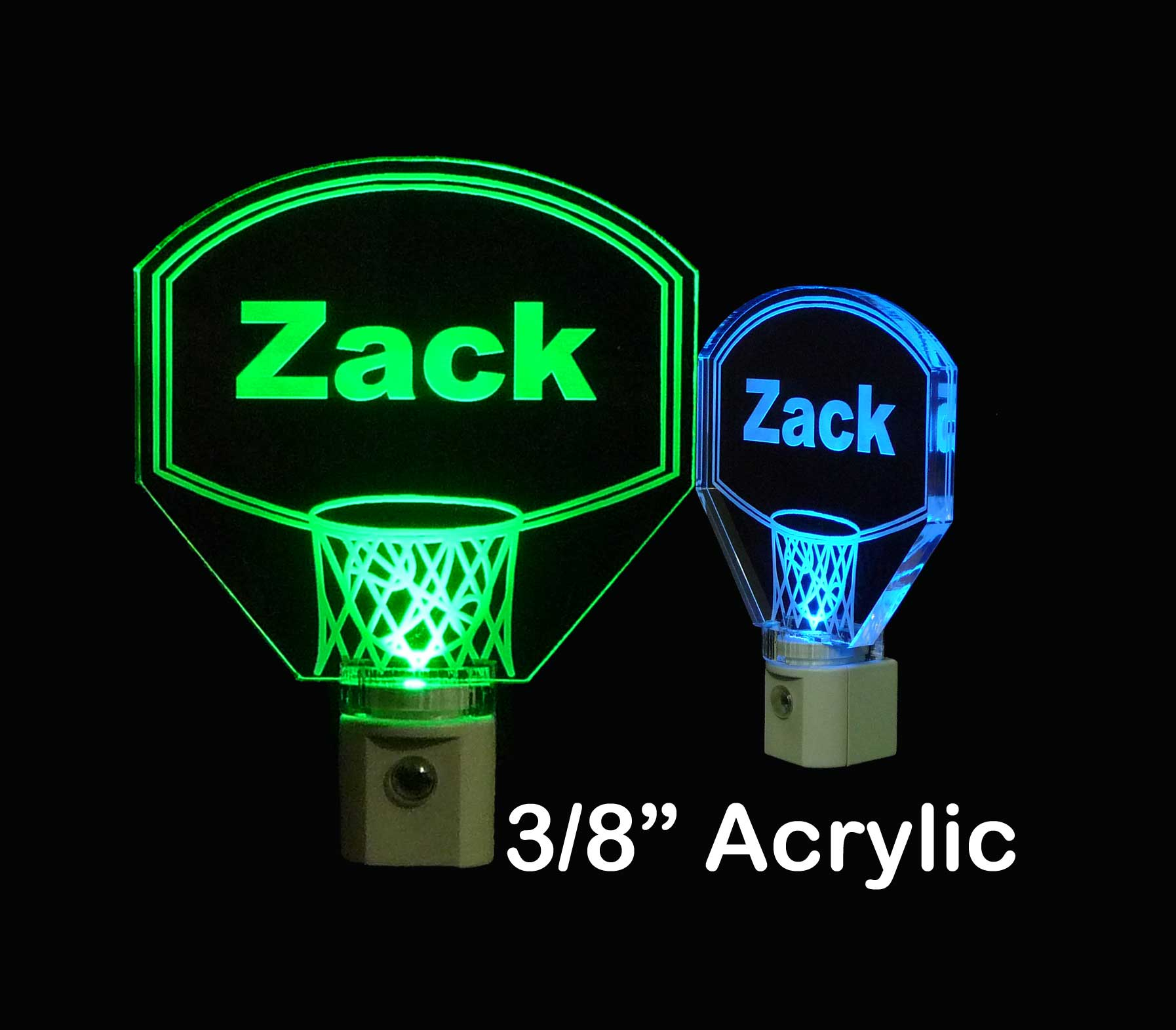 Personalized Basketball Hoop Night Light