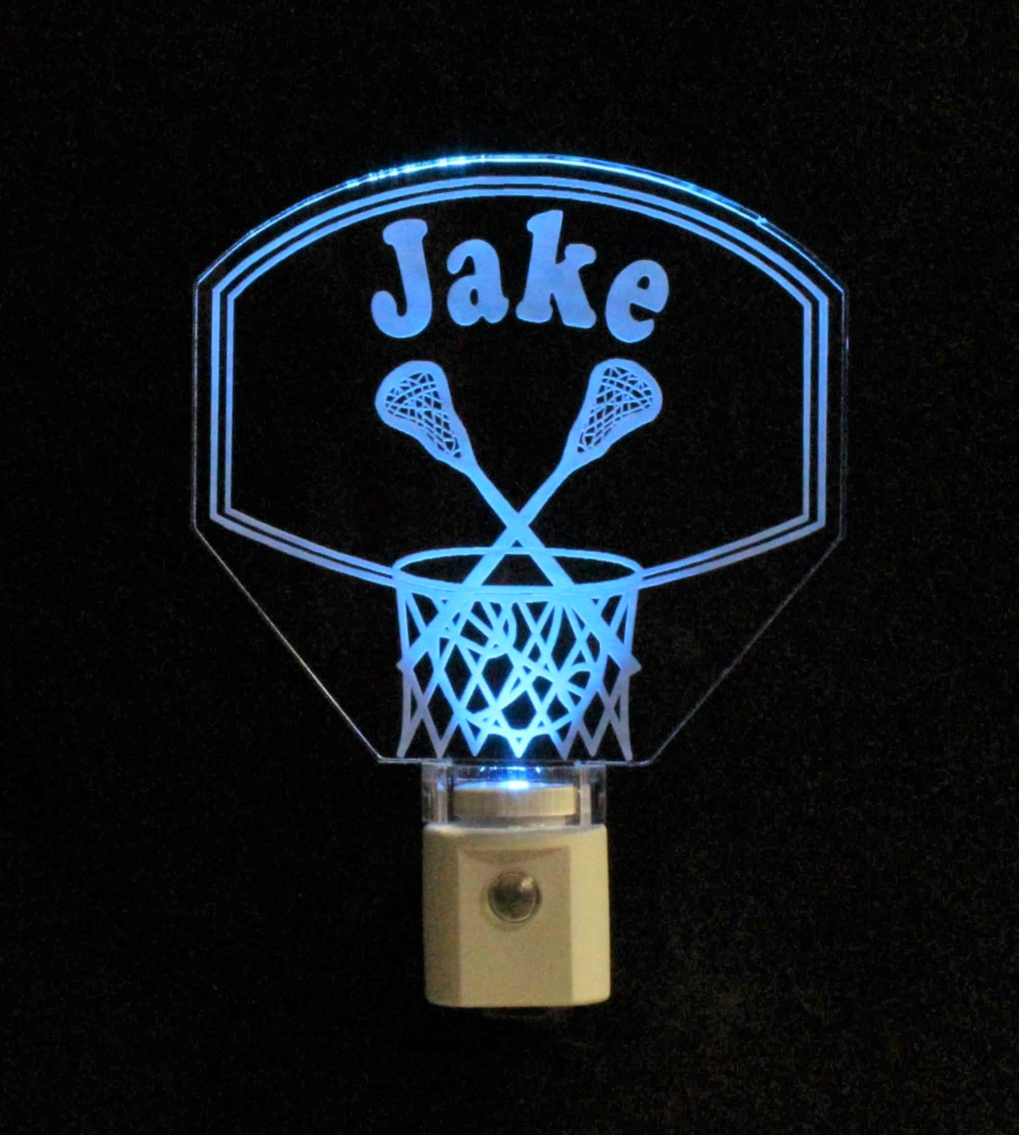 Personalized Basketball Hoop Lacrosse Night Light