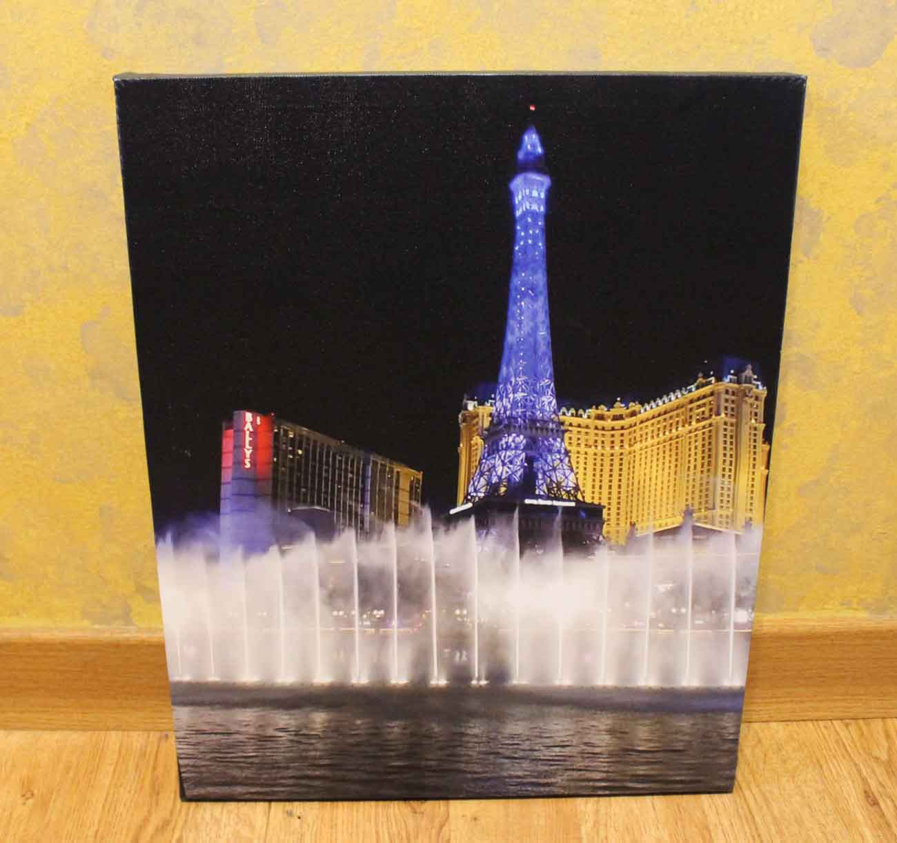 Bellagio Water Photograph UV Printed on Canvas