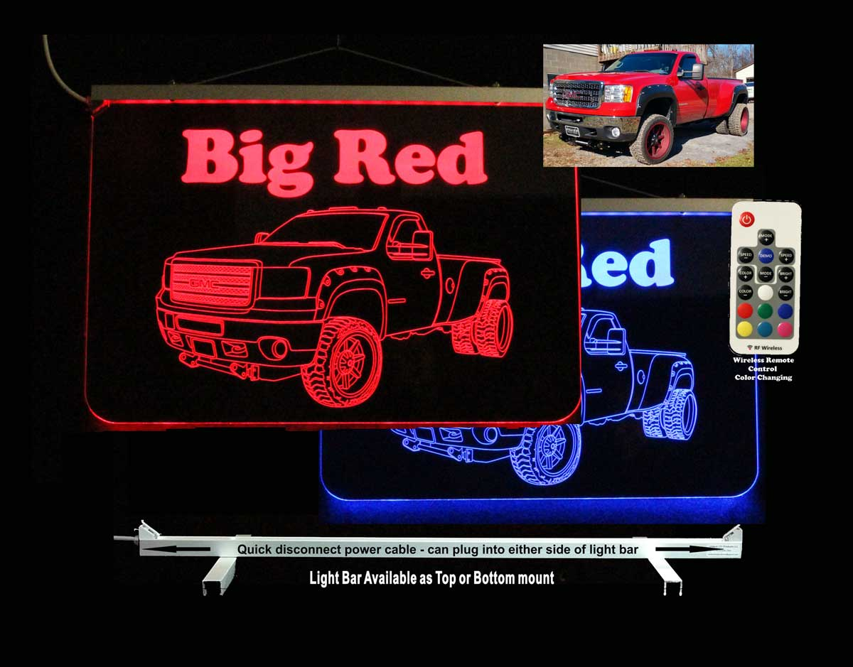 Personalized Dually Pickup truck sign, Monster truck LED Neon sign