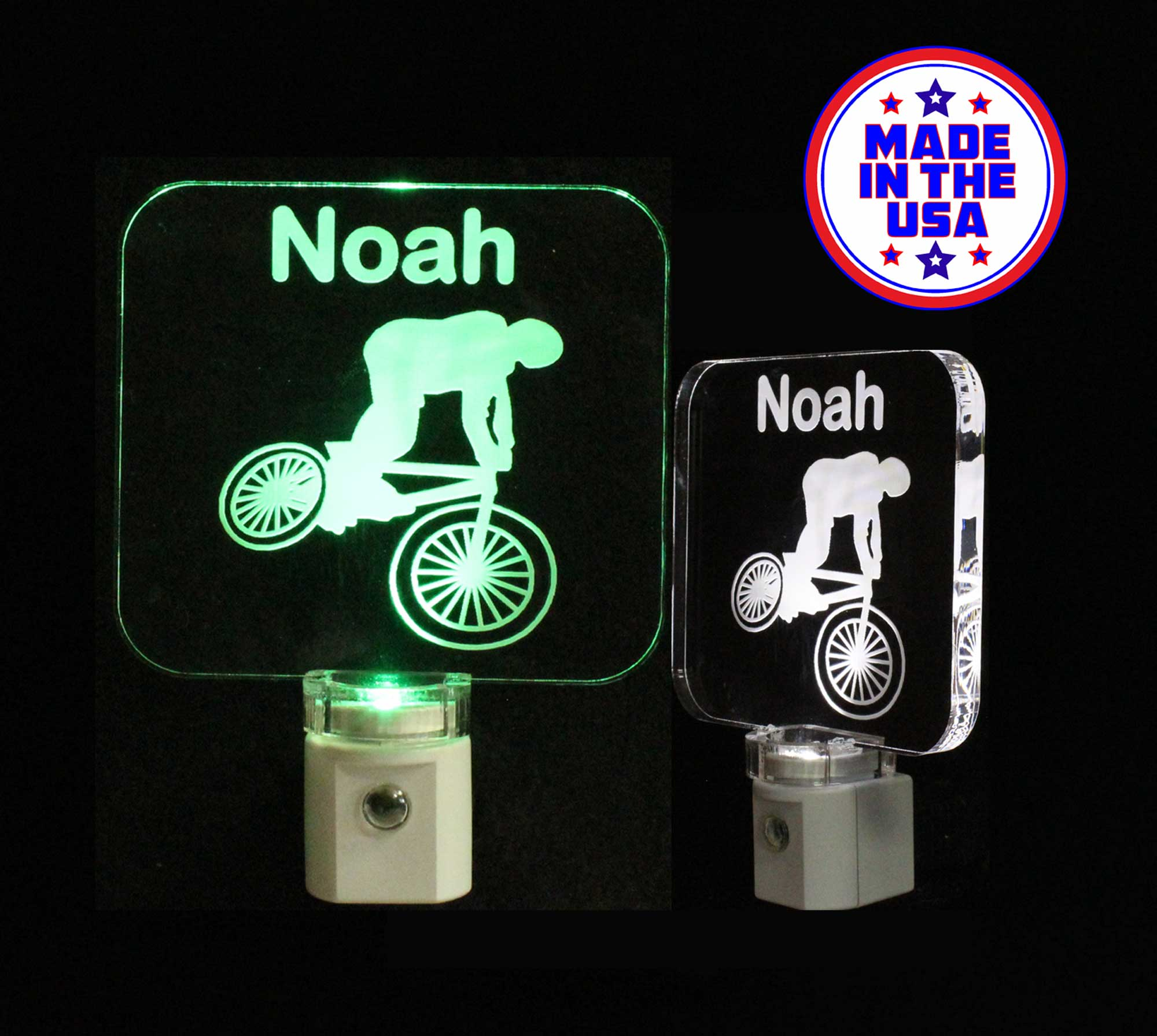 BMX Bike LED Night Light, Kids Personalized Light