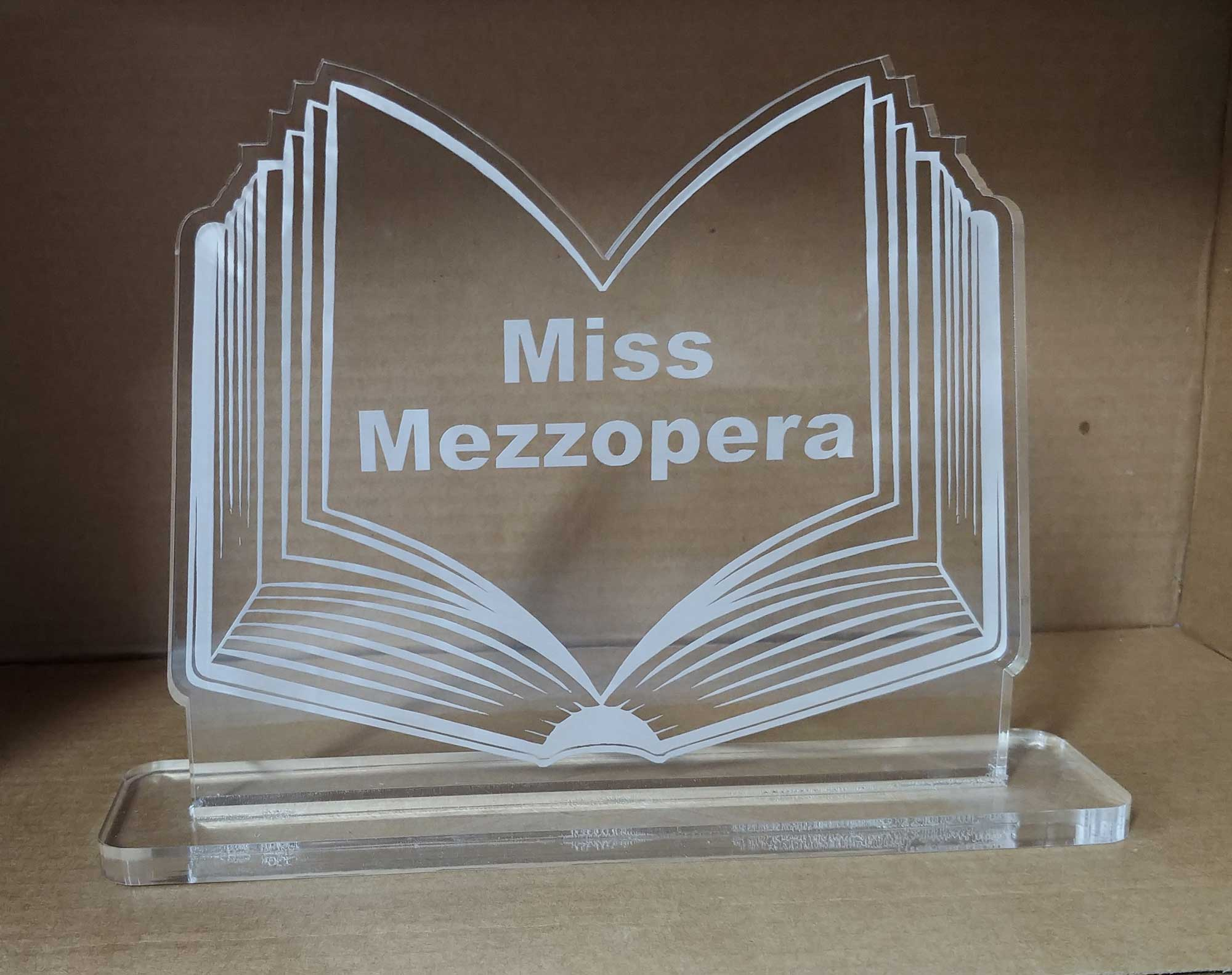 Laser engraved Acrylic Awards - Trophies  Plaques, Book design