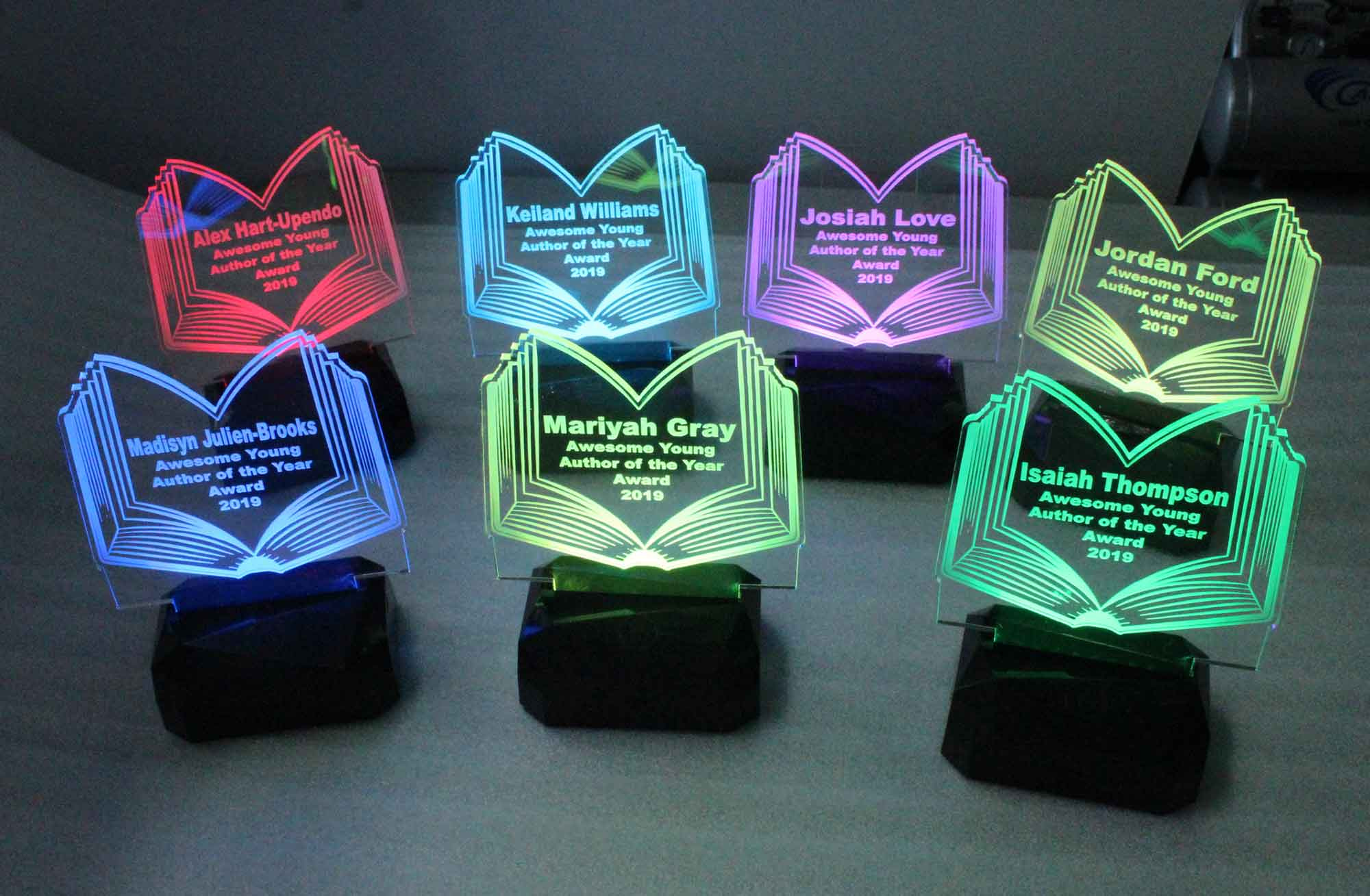 Rechargeable Battery USB/110V/240V Personalized night light, Award, name plaque