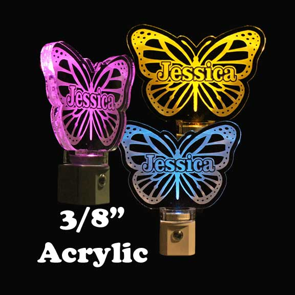 Personalized  Butterfly LED Night Light