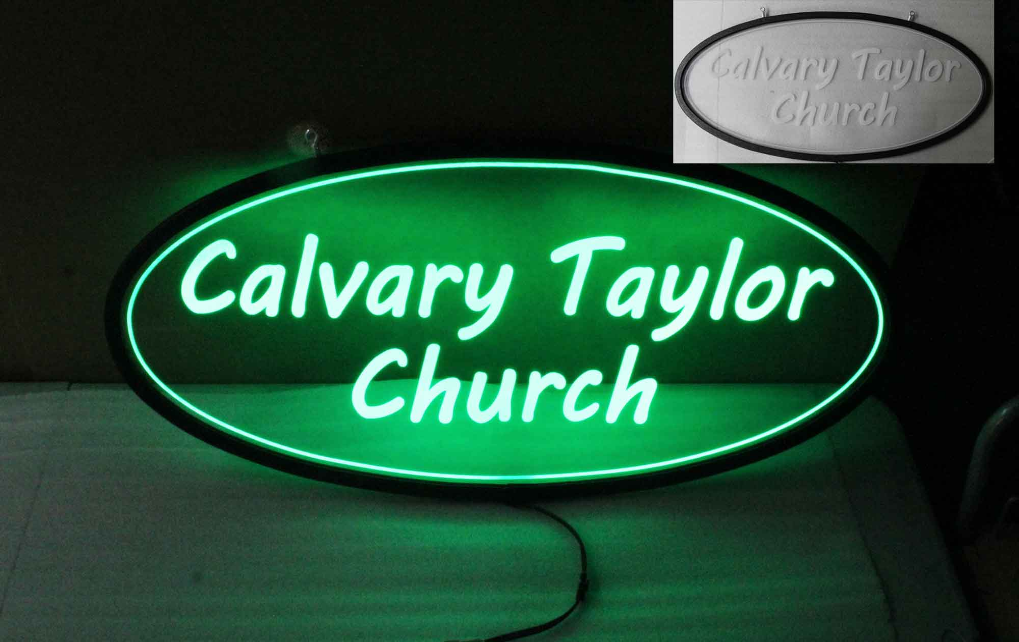 Oval Custom LED Sign - Multi-color Changing