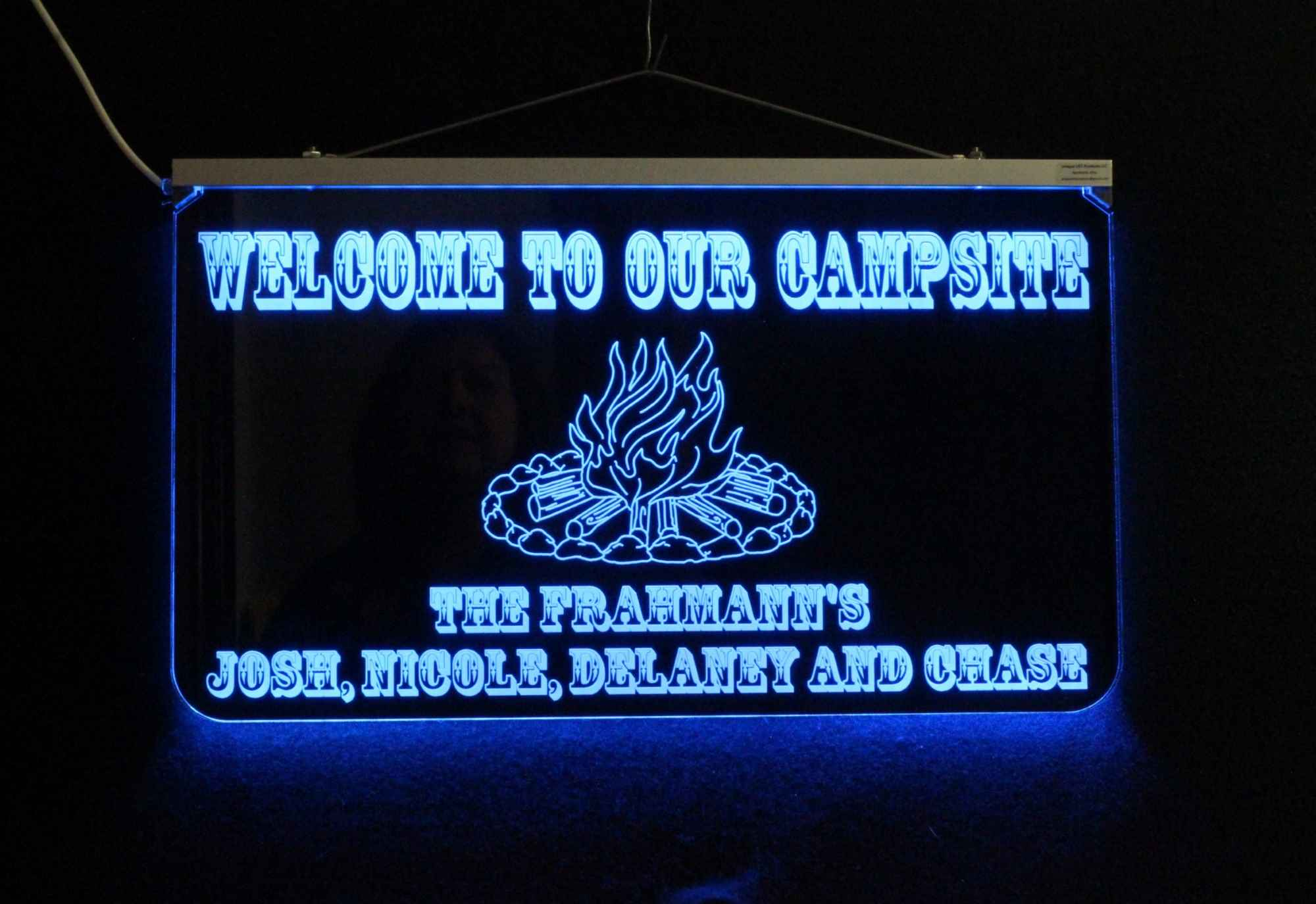 Personalized Campfire LED Sign - Camping sign