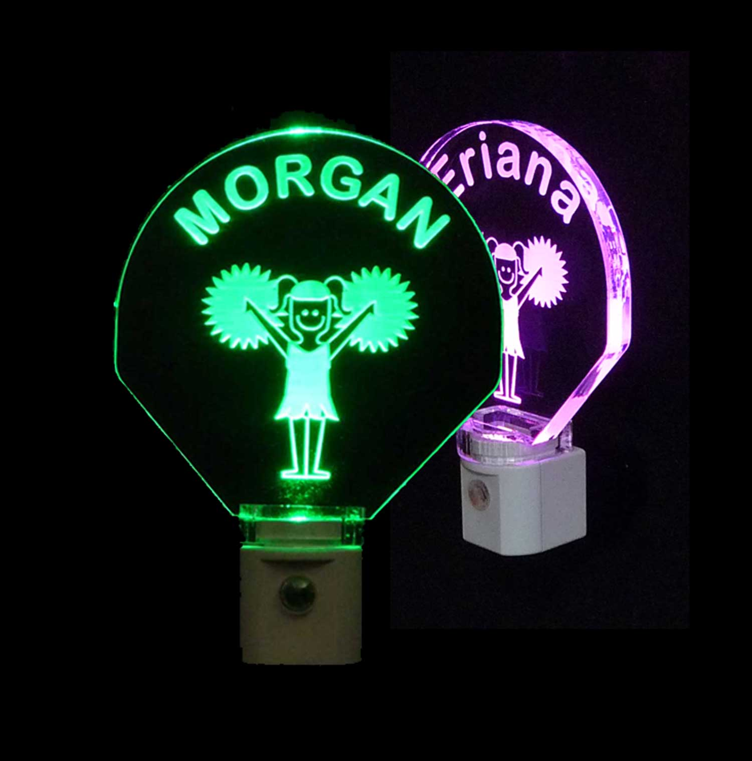 Personalized Kids Cheerleader LED Night Light