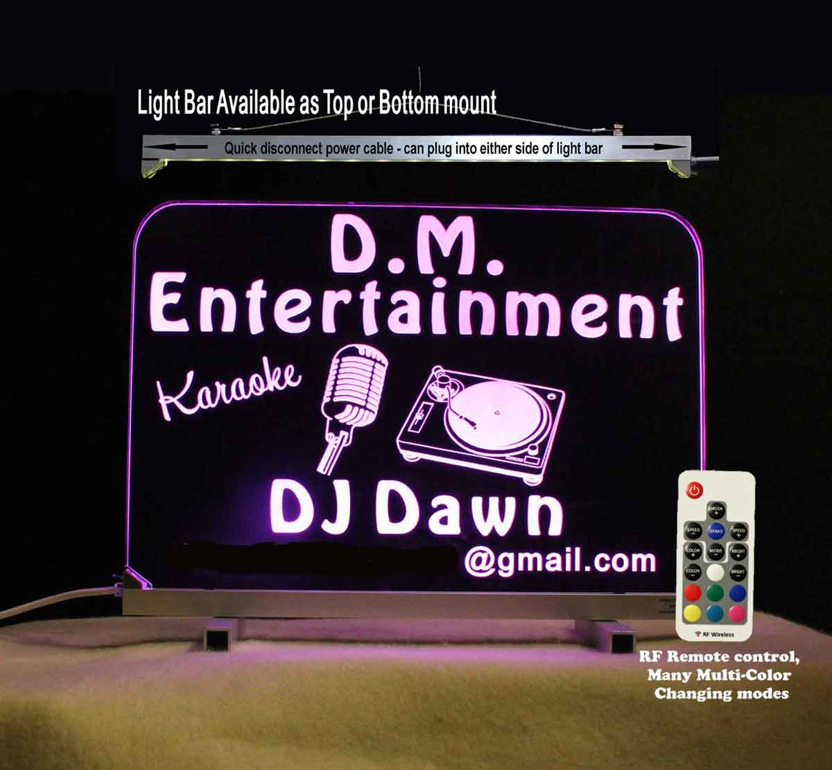 Personalized DJ Karaoke LED Neon Sign
