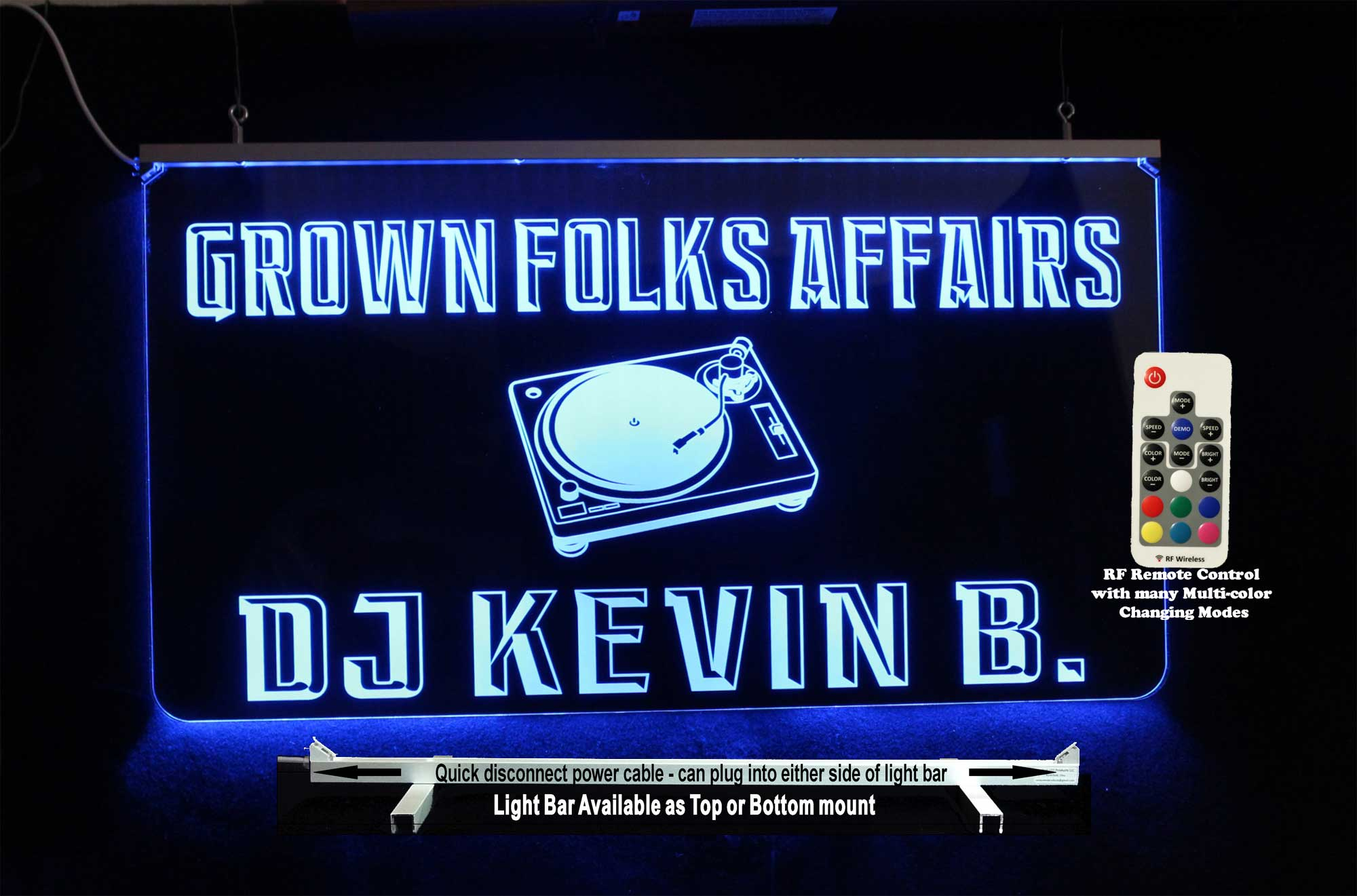DJ Sign, Custom LED Sign, Man Cave, LED Neon Bar Sign
