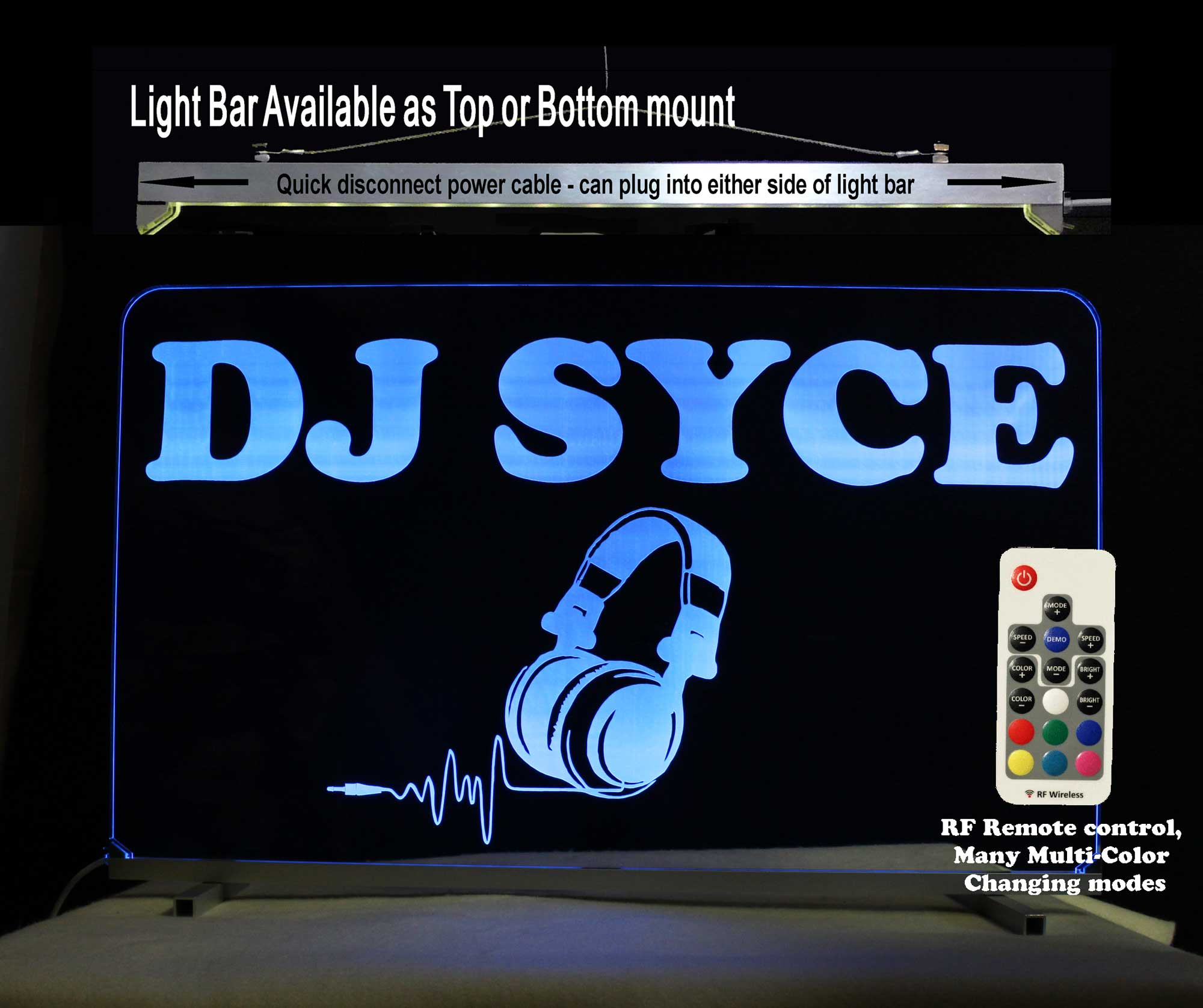 Personalized DJ Sign, Custom LED Neon Sign, Man Cave, Bar Sign