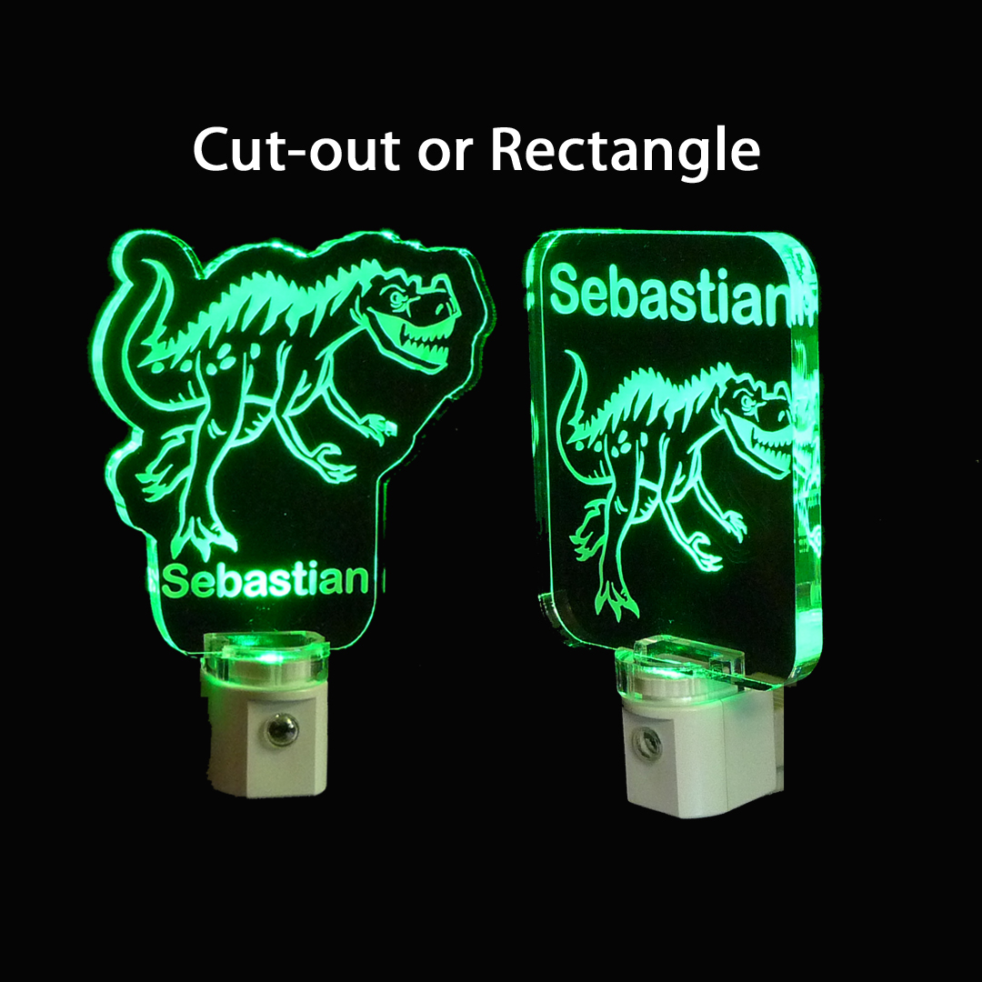 Kids Personalized Dinosaur LED Night Light Lamp