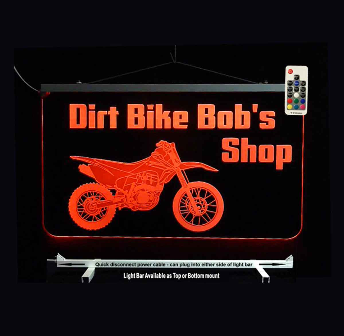 Personalized Dirt Bike Motorcycle Sign