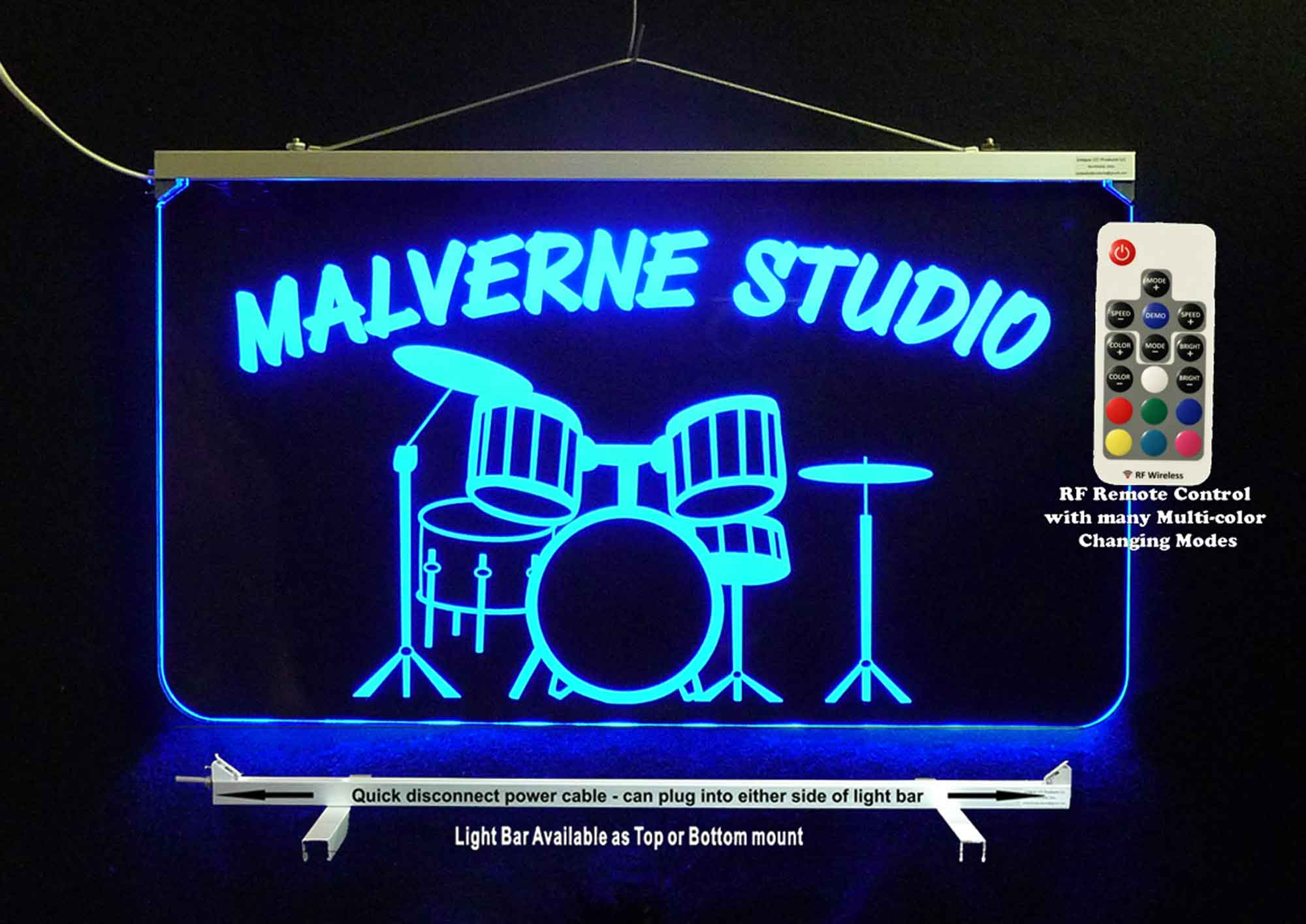 Personalized Drum Set LED Neon Sign