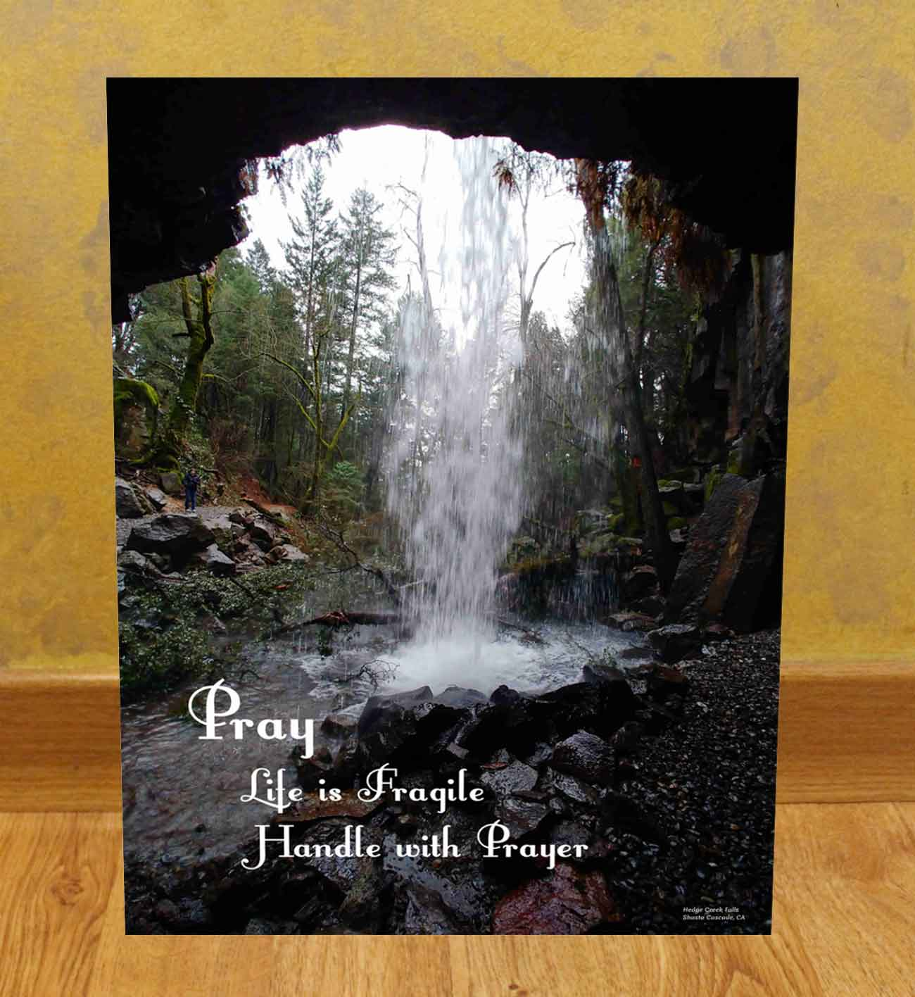 Hedge Creek Falls Photograph UV Printed on Canvas Pray