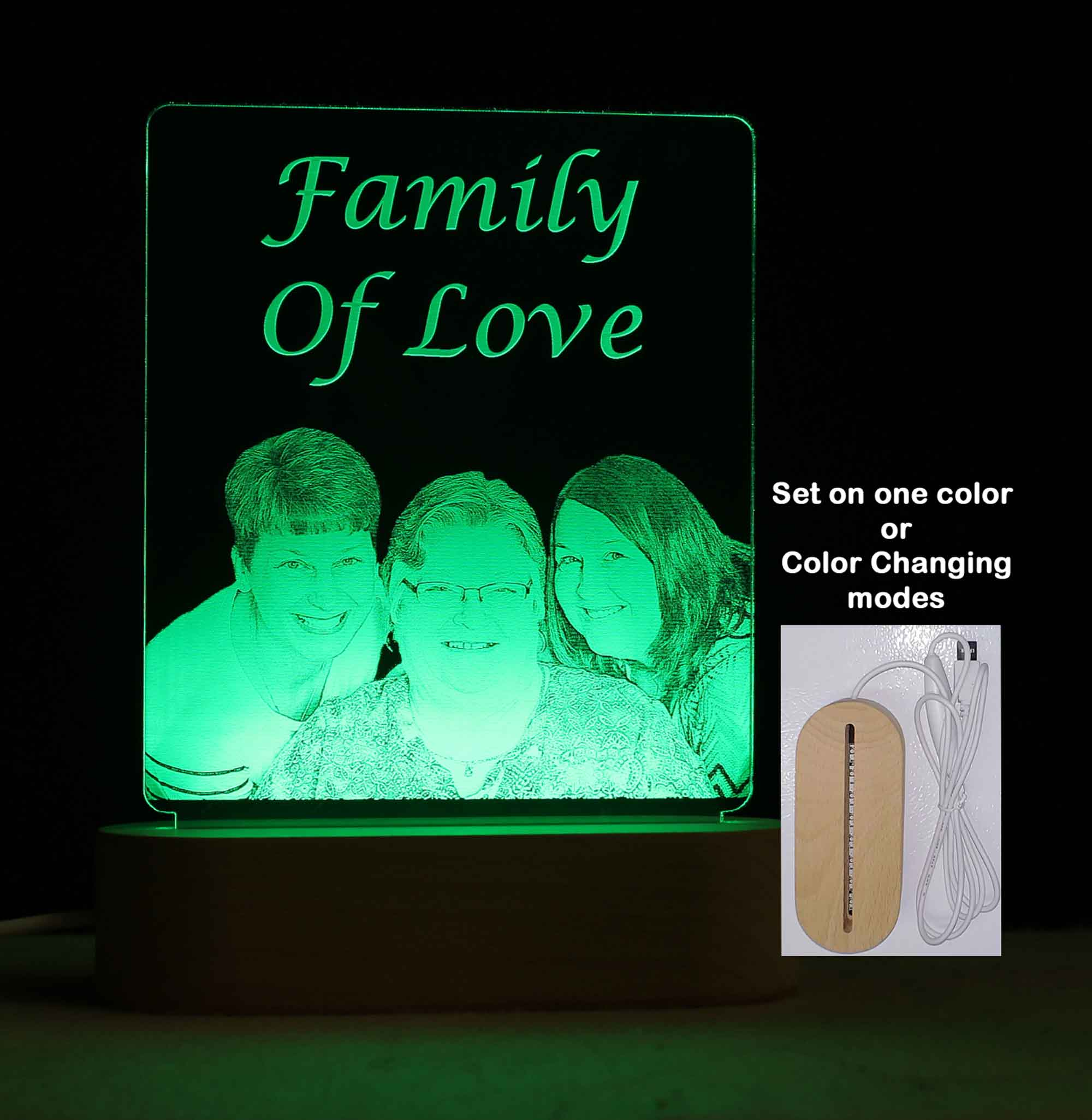 Personalized Photo USB LED Night Light, Custom Photo Sign