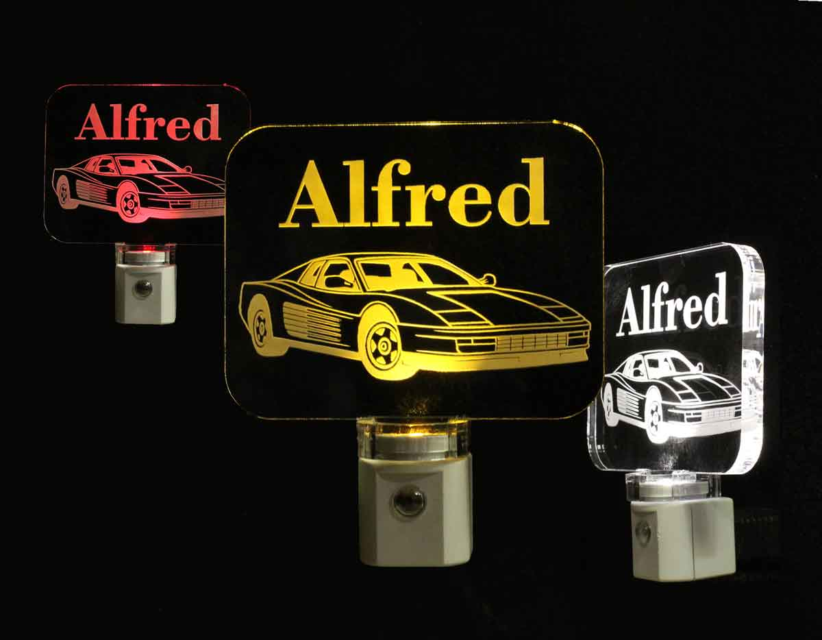Personalized Ferrari LED Night Light