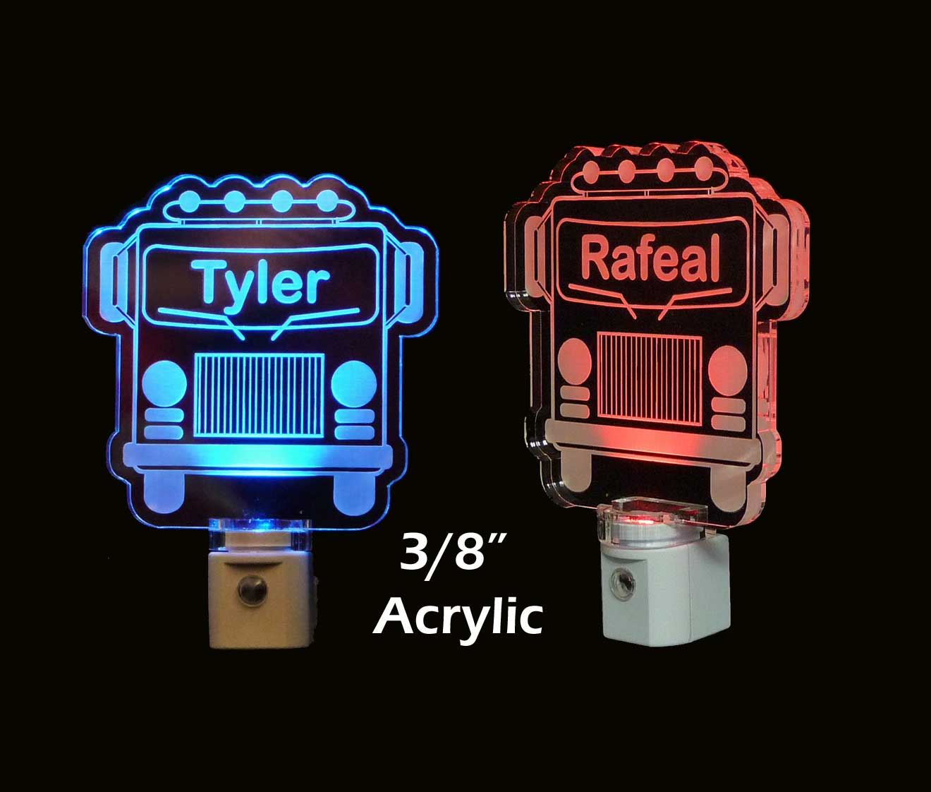 Firetruck Personalized LED Night Light Kids Lamp