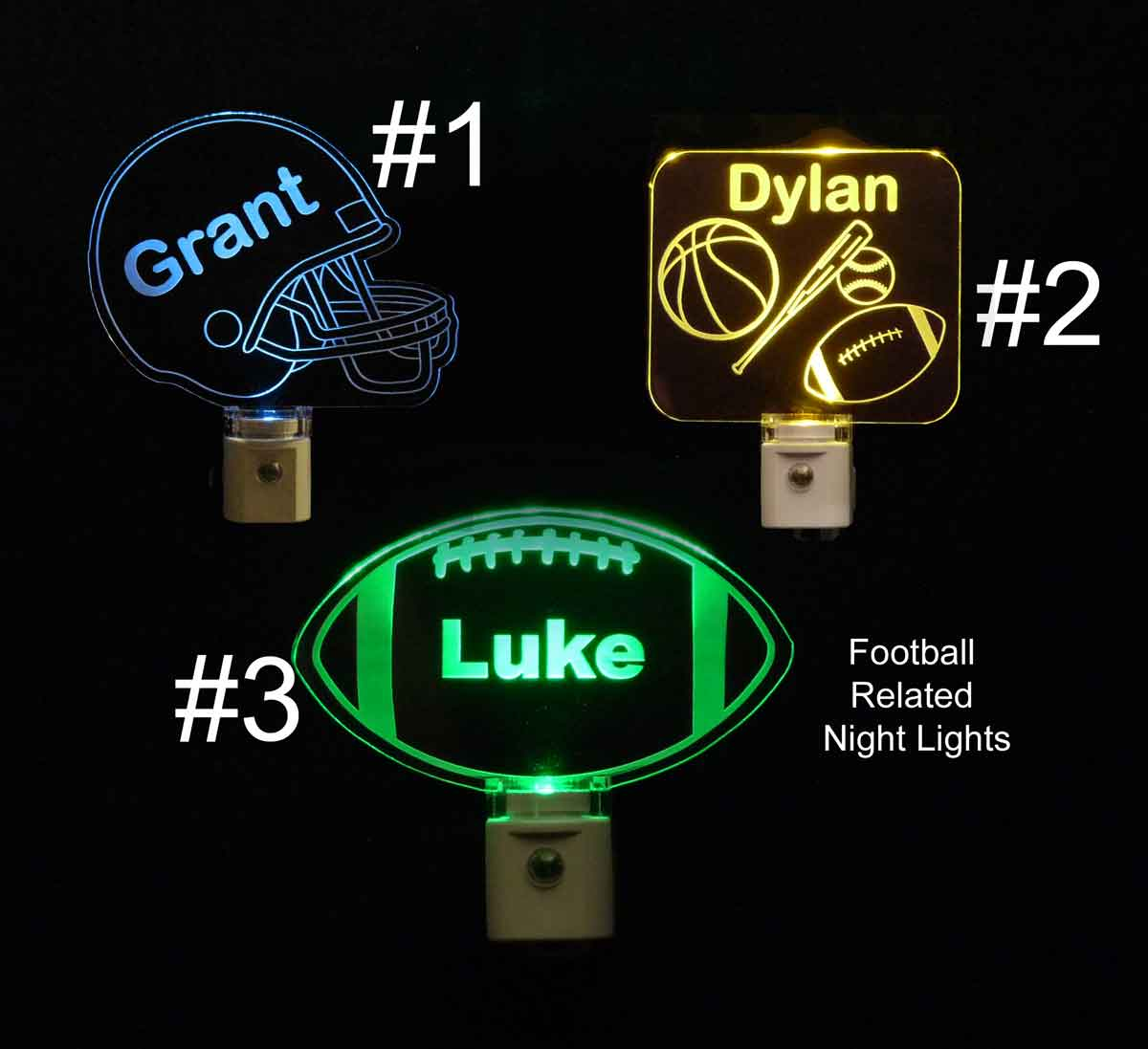 Personalized Football Led Night Light