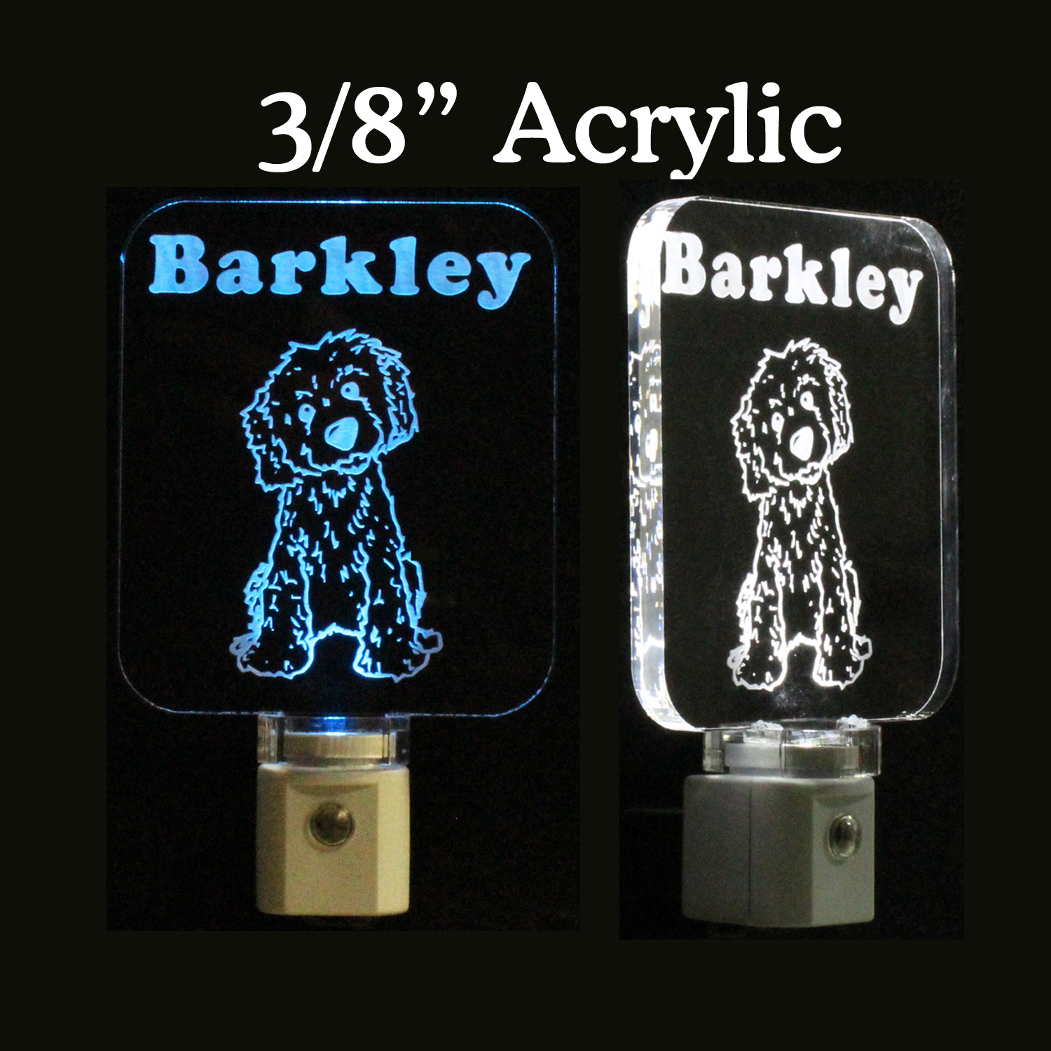 Personalized Golden Doodle Dog LED Night Light