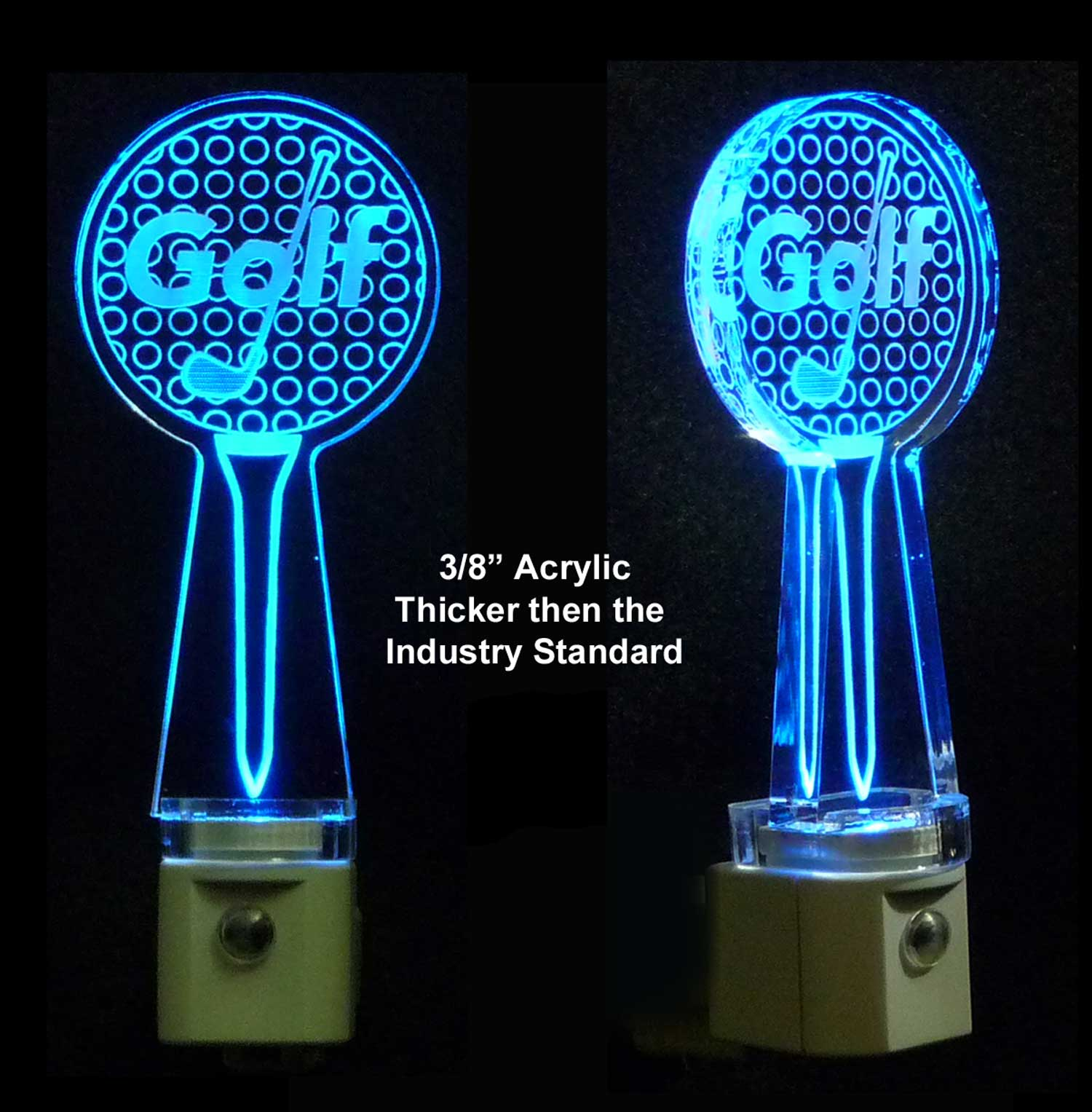 Golf Ball with Tee Personalized Night Light