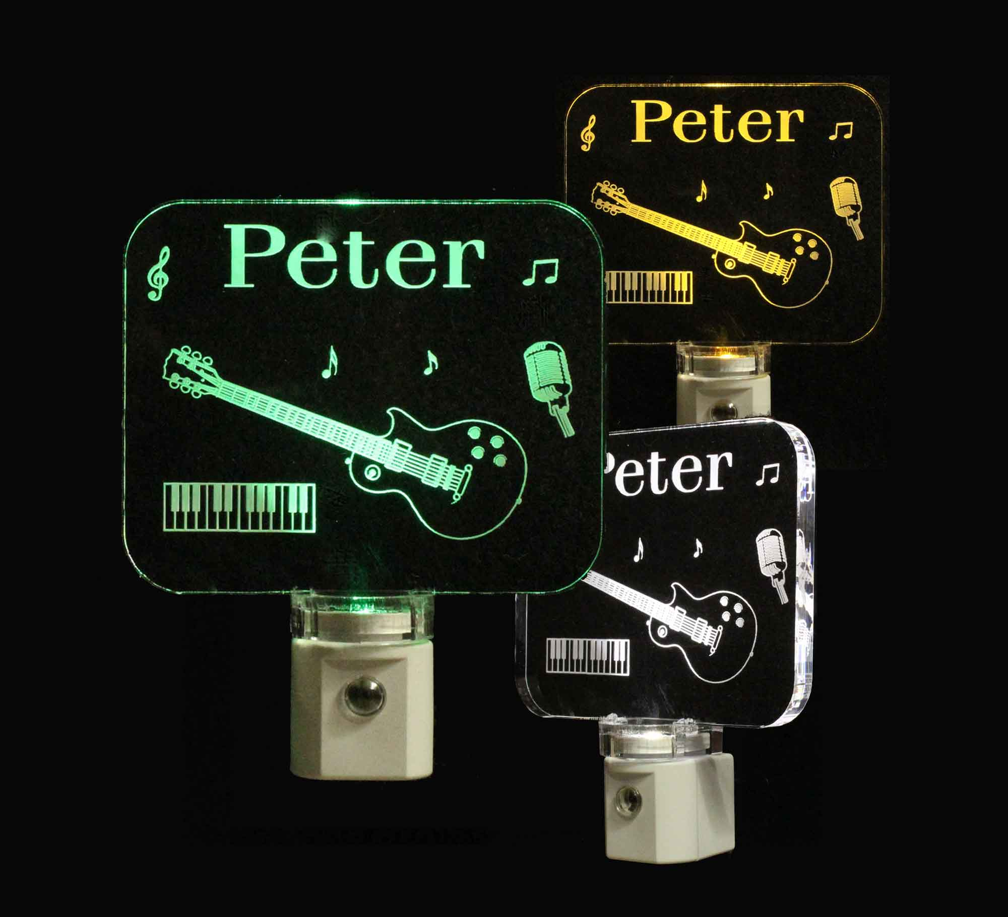 Personalized Guitar Piano Music Night Light
