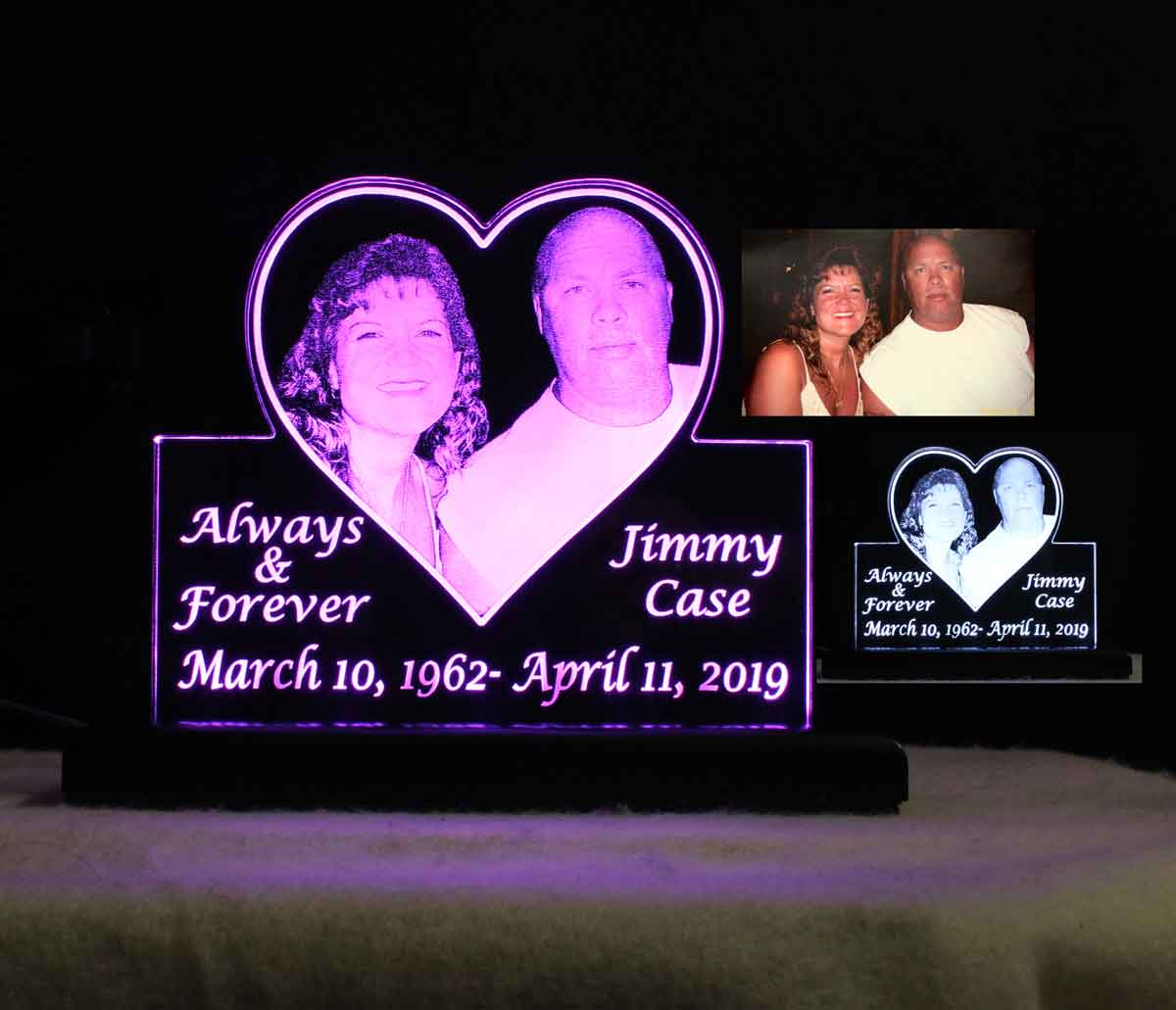 Personalized Photo Etched Sign, USB/110V/240V