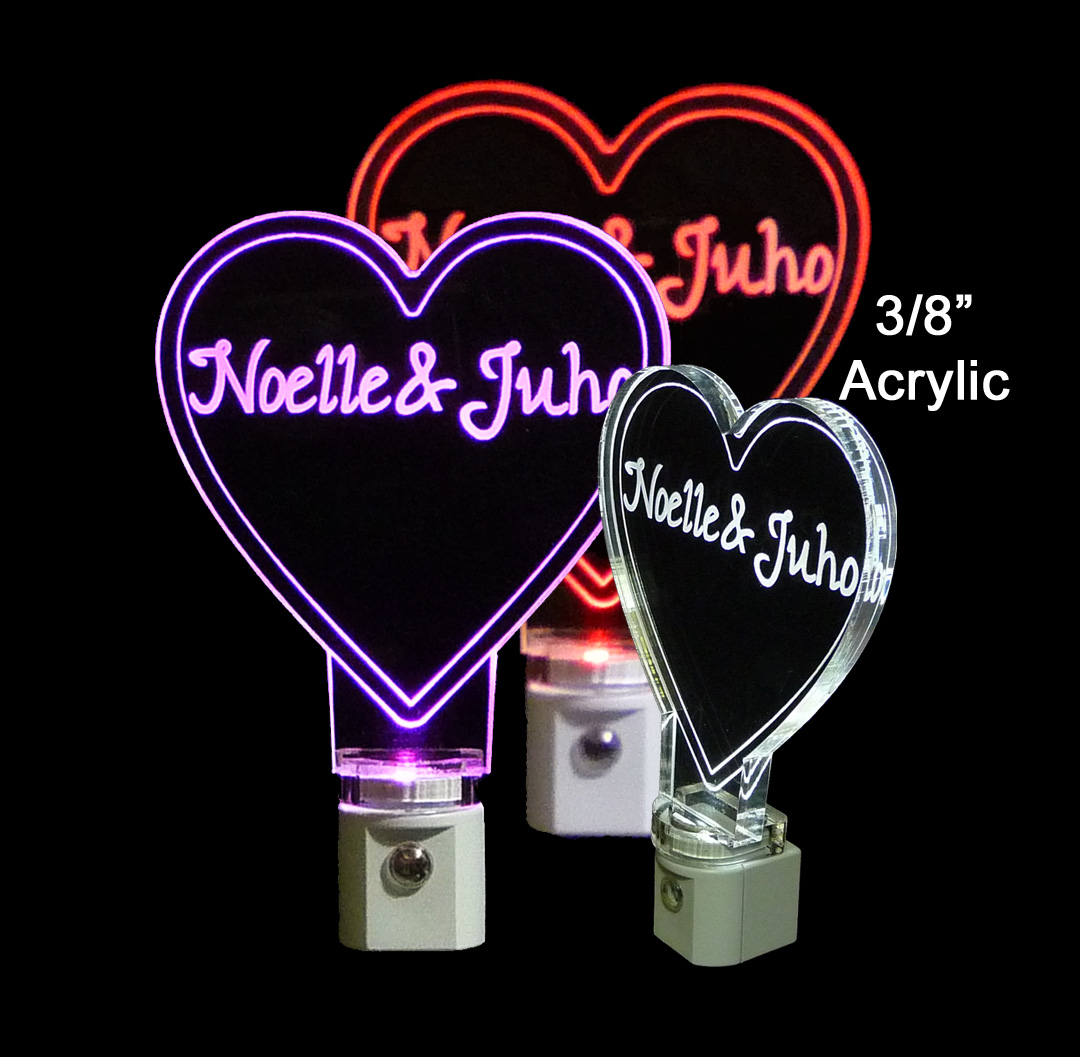 Heart Shaped Personalized LED Night Light