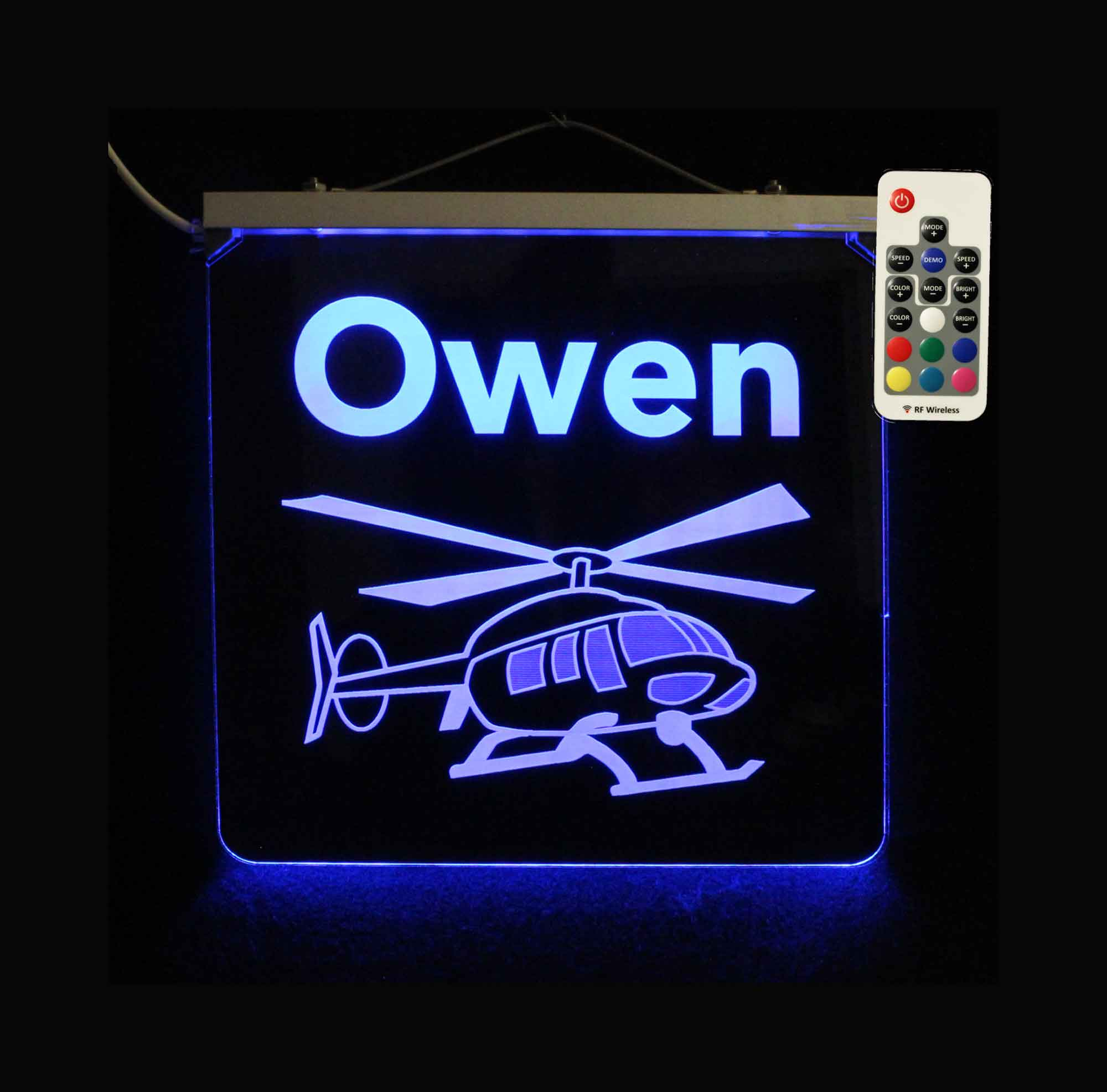 Personalized Helicopter Sign - LED Neon Kids sign