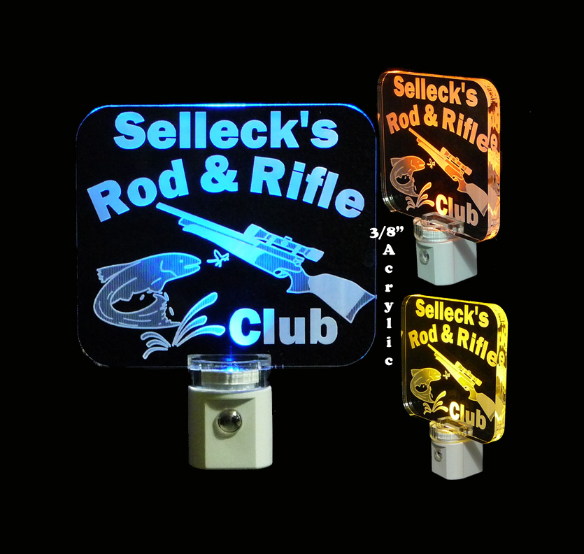 Personalized Hunting and Fishing LED Night Light