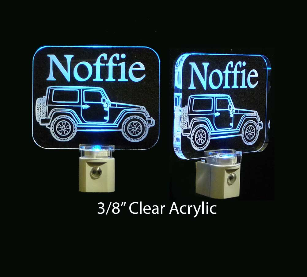 Personalized Jeep LED Acrylic Night Light