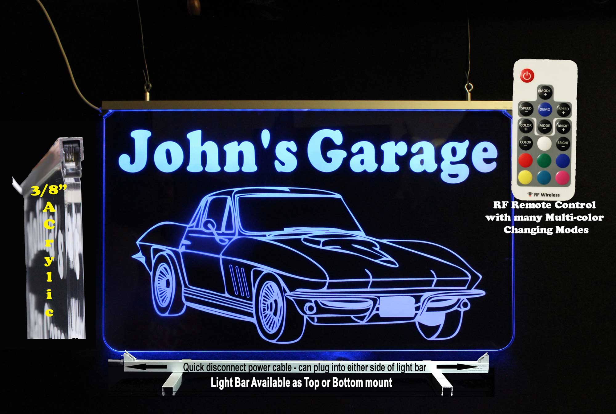 antique corvette sign