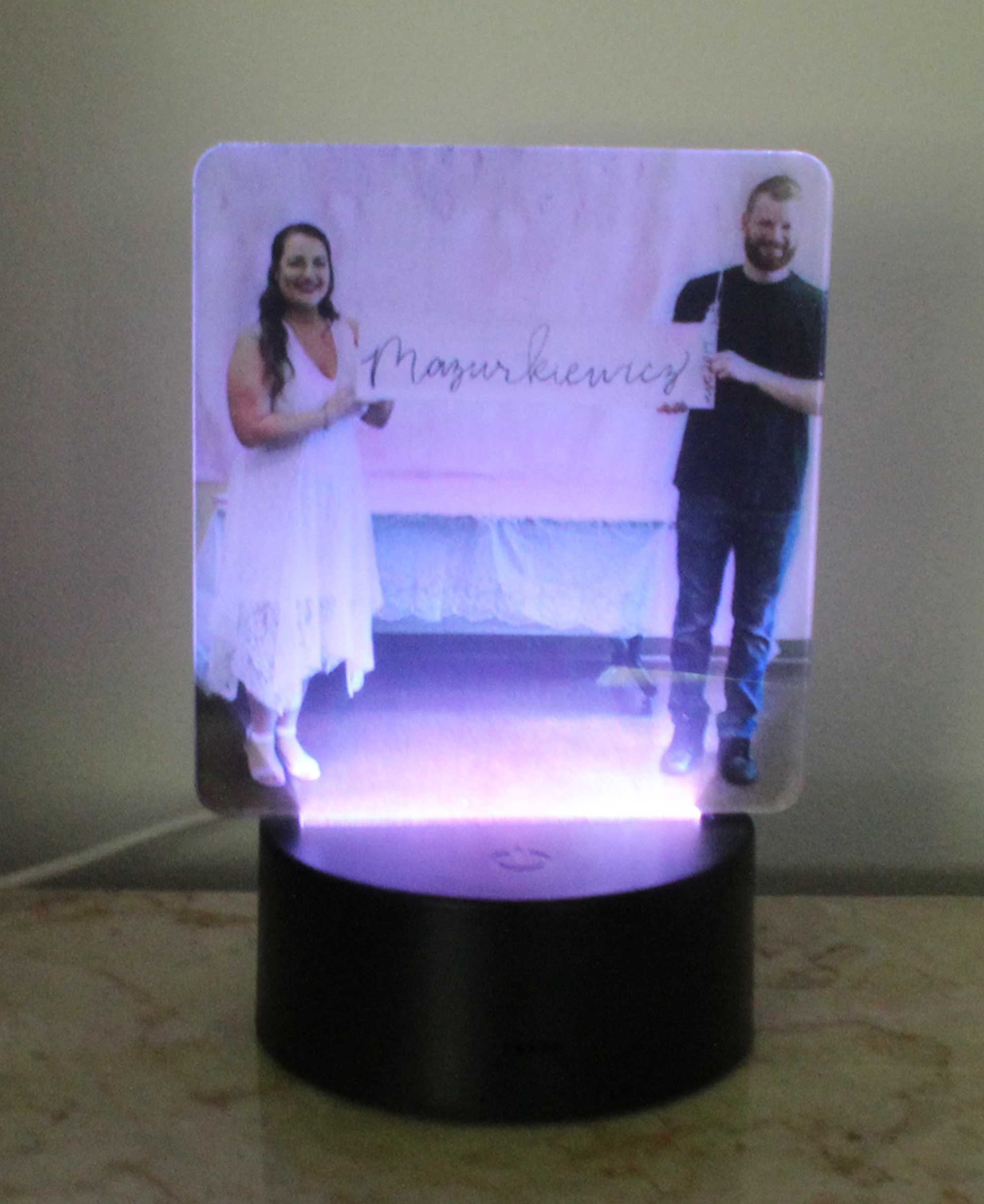Personalized Photo Night Light, UV Printed Acrylic USB/110V/Battery