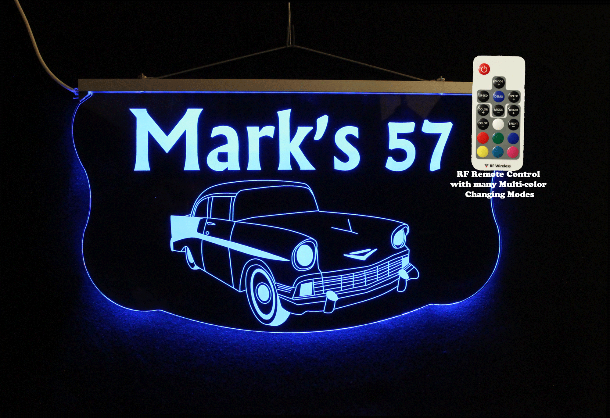 Personalized  57 Chevy Garage Sign, Man Cave Sign, Bar Sign