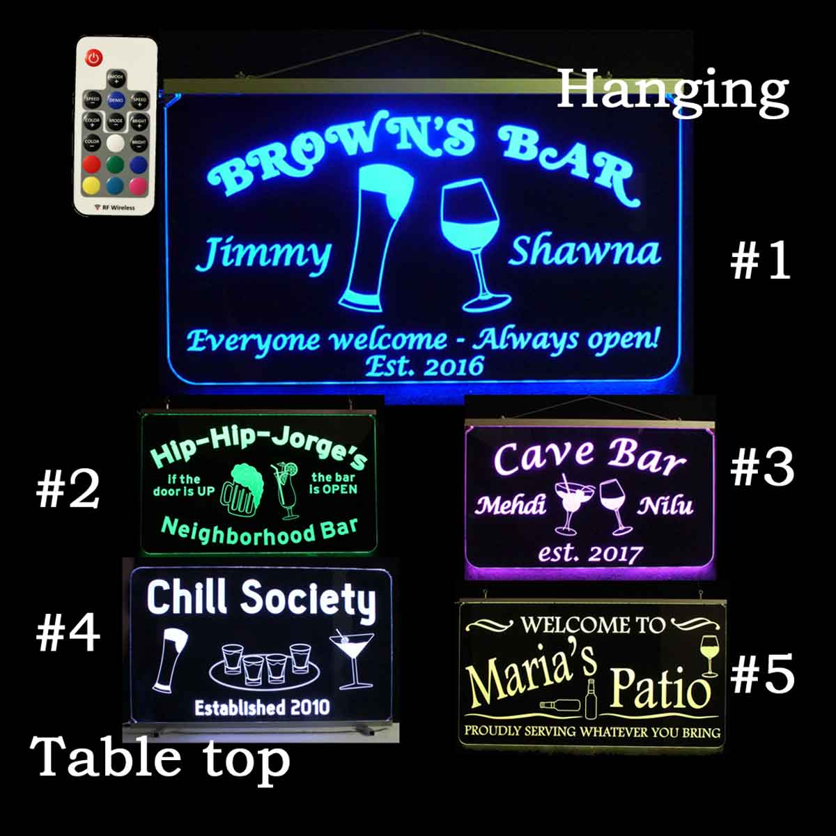 Personalized Custom LED Neon Bar Sign, Garage, Man Cave Sign