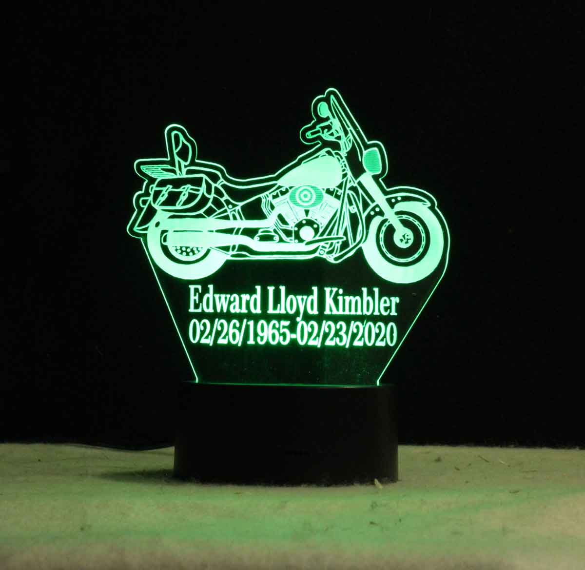 Personalized Motorcycle Table Top night light  USB/battery/110V/110V/240V battery operated Motorcycle night light