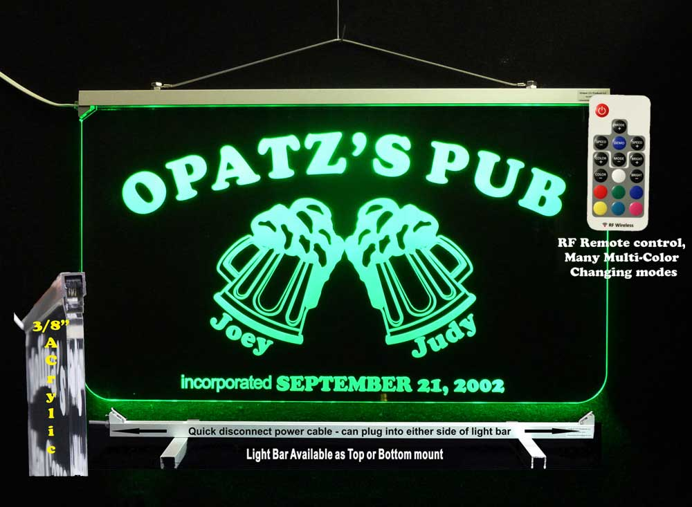 Personalized Beer Mug Bar Sign, Man Cave Sign