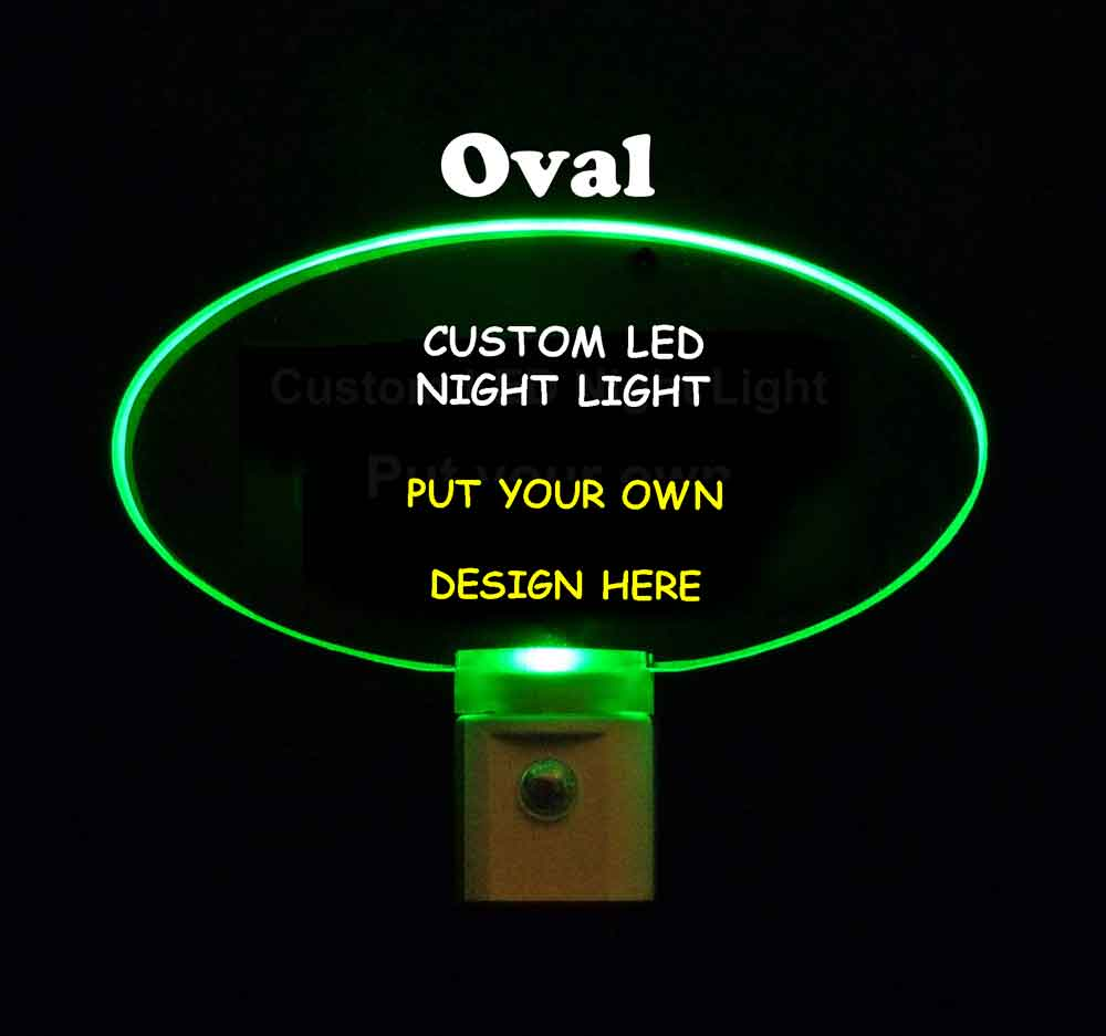 Custom Oval Night Light - Design your own light