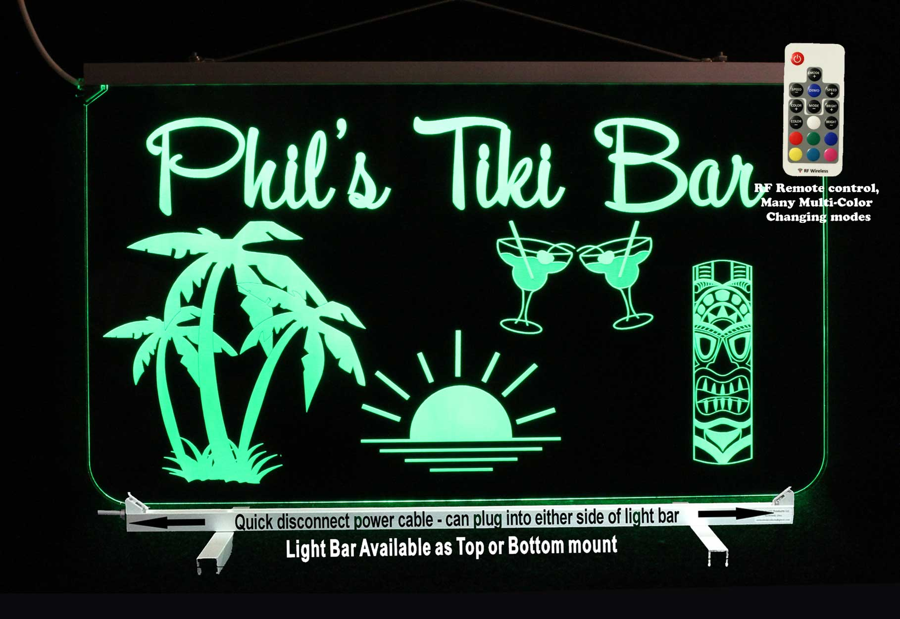 Tiki Bar Sign, Personalized Man Cave Bar Sign