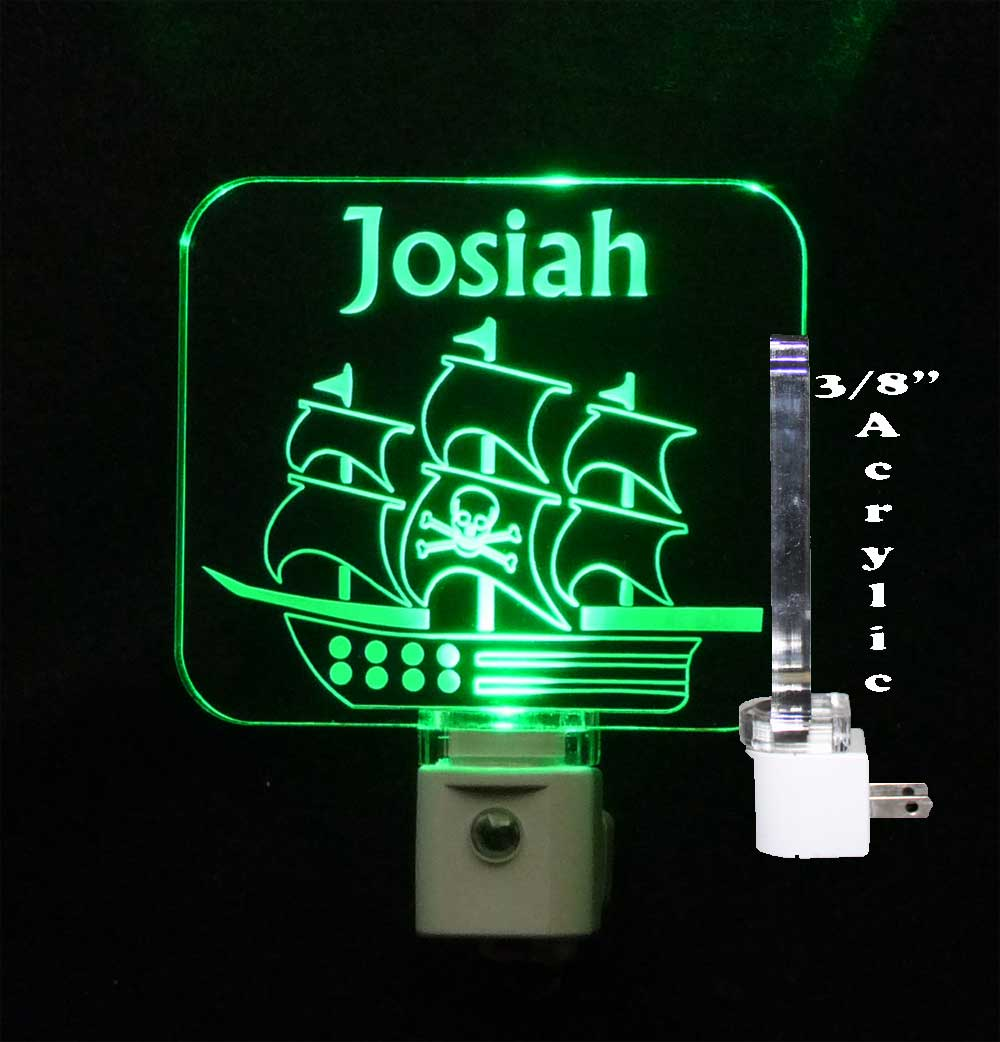 Personalized Pirate Ship LED Personalized Night Light
