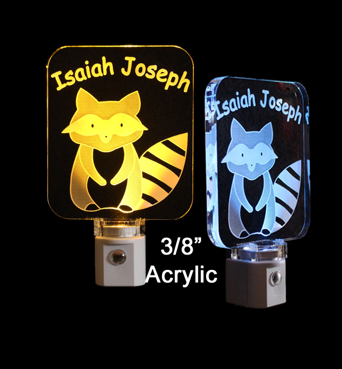 Personalized Raccoon Animal LED Night Light