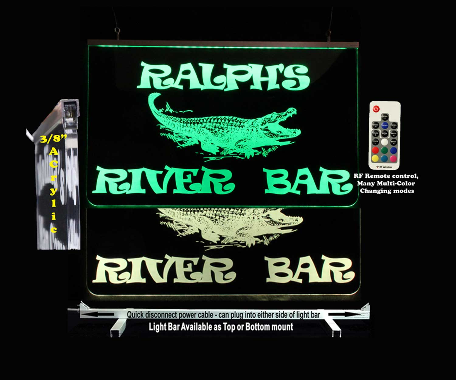 Personalized Alligator LED Man Cave Sign