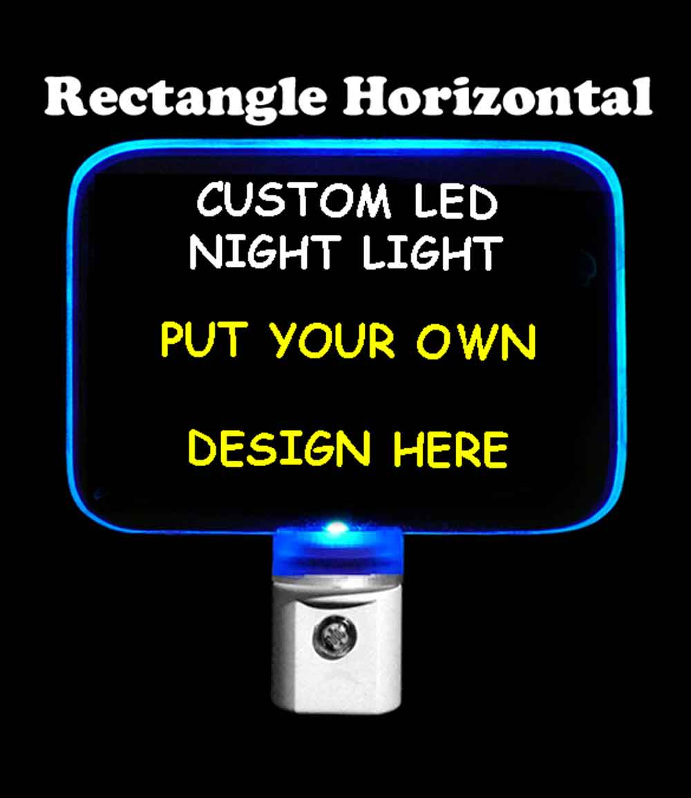 Custom Rectangle Night Light - Design your own light